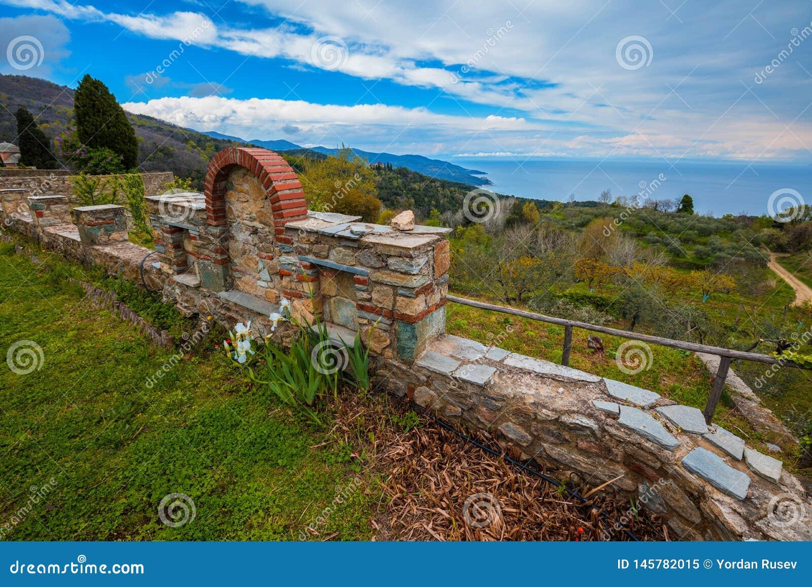 Монастырь Philotheou на Mount Athos