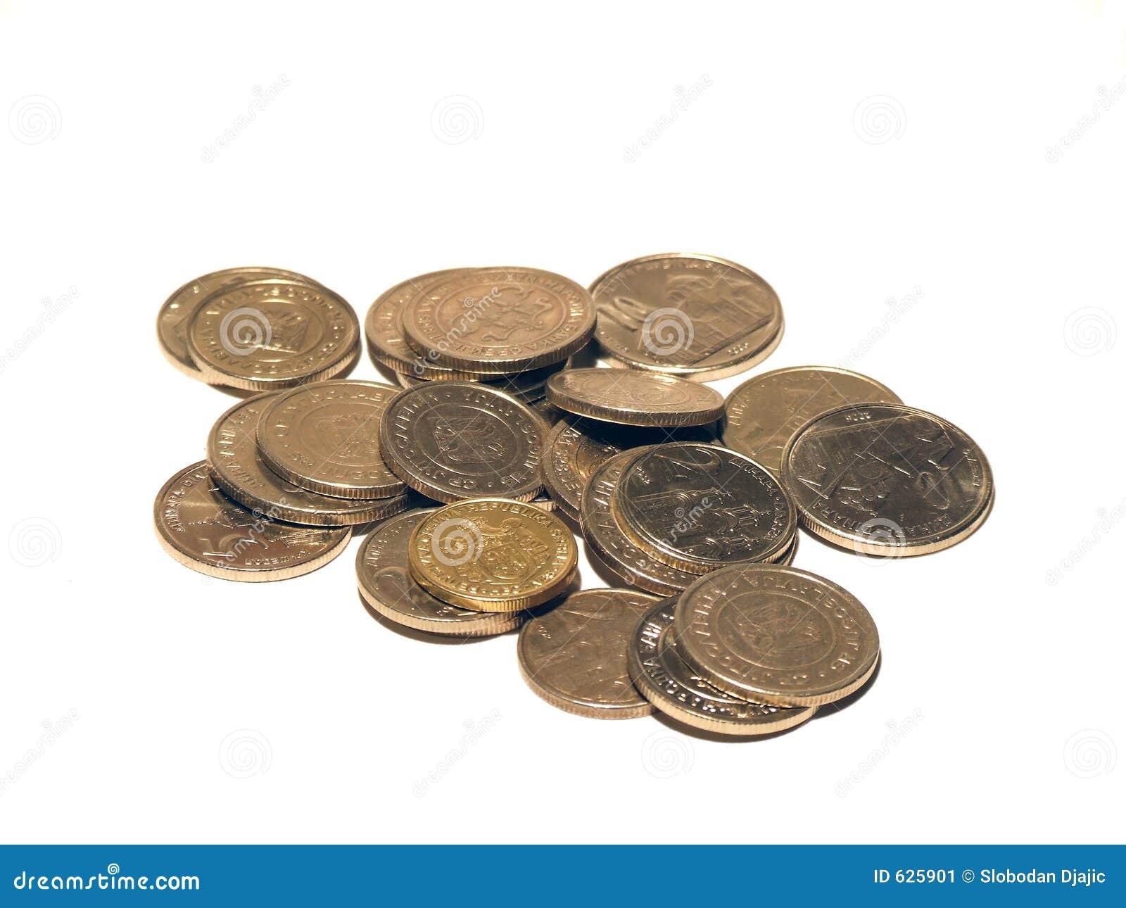 Download монетки изолировали стоковое изображение. изображение насчитывающей финансы - 625901