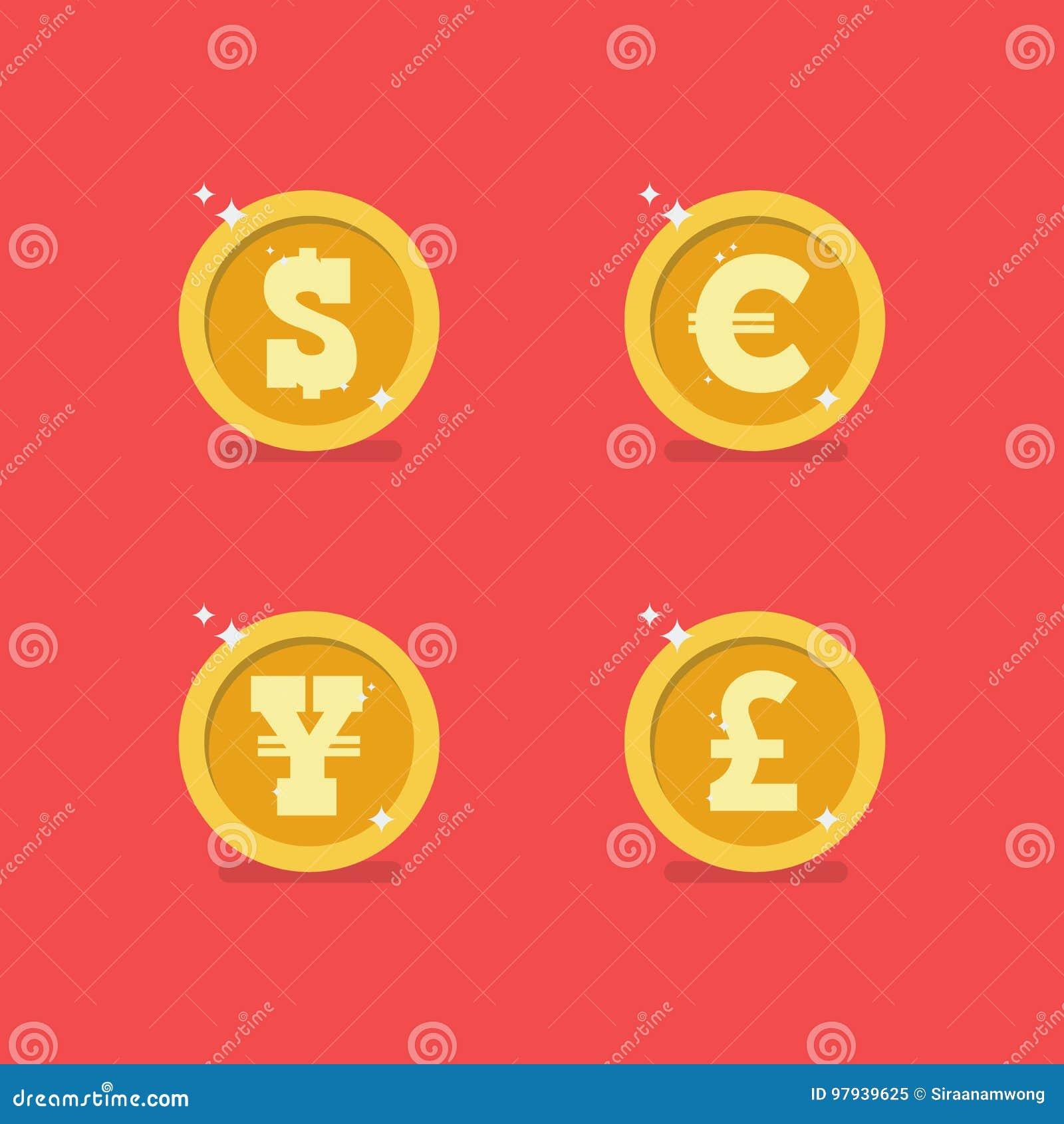 Монетки различных валют