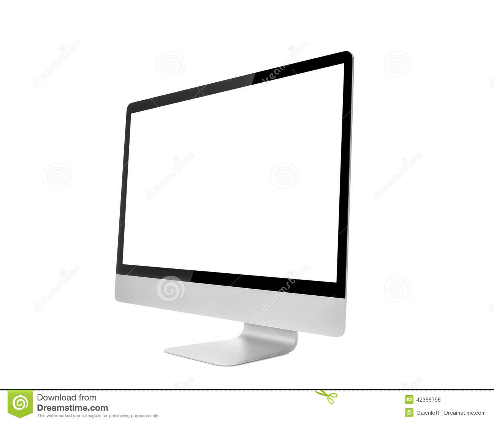 Монитор компьютера, как макинтош с пустым экраном