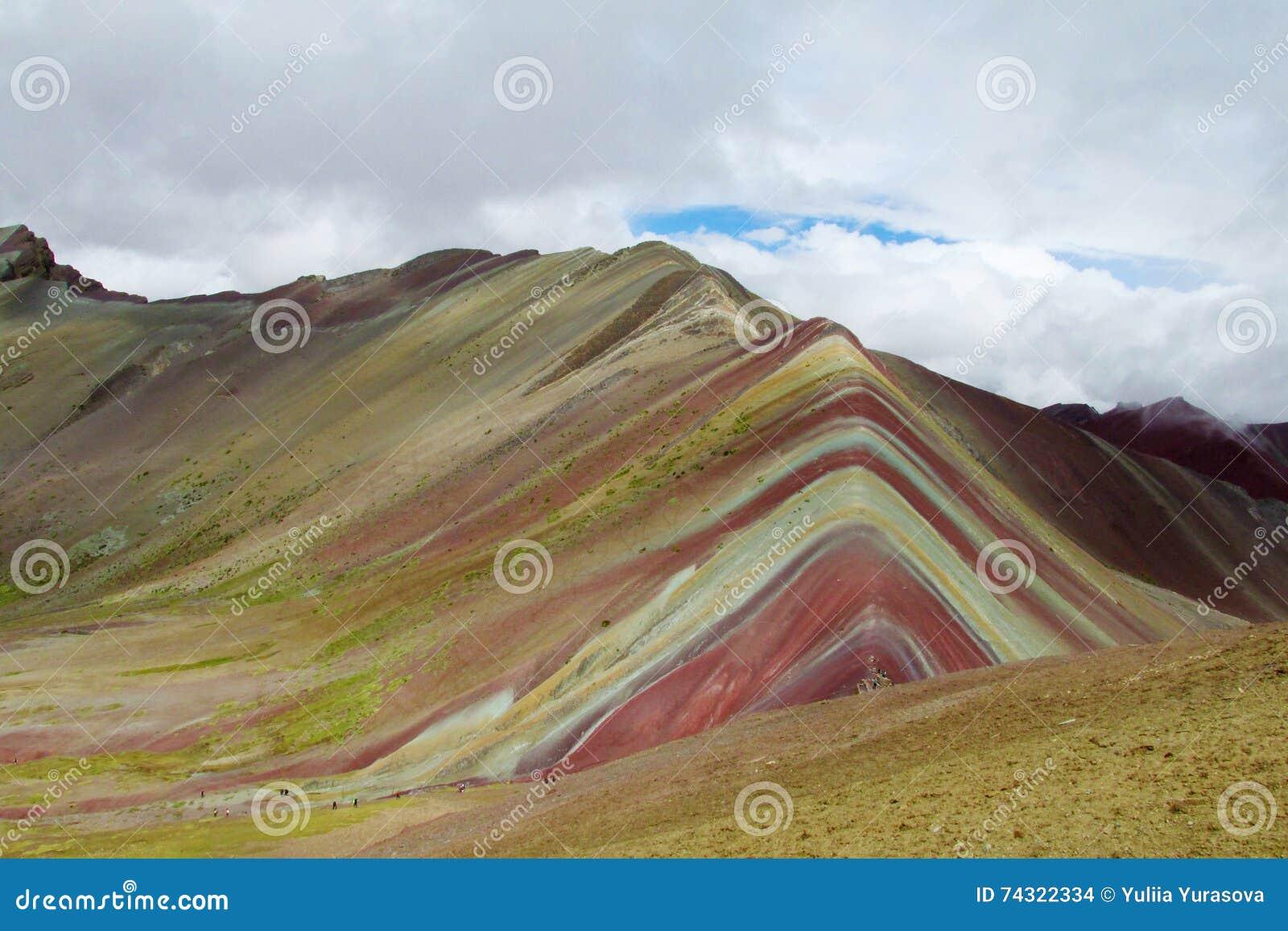 Монтана De Siete Colores около Cuzco