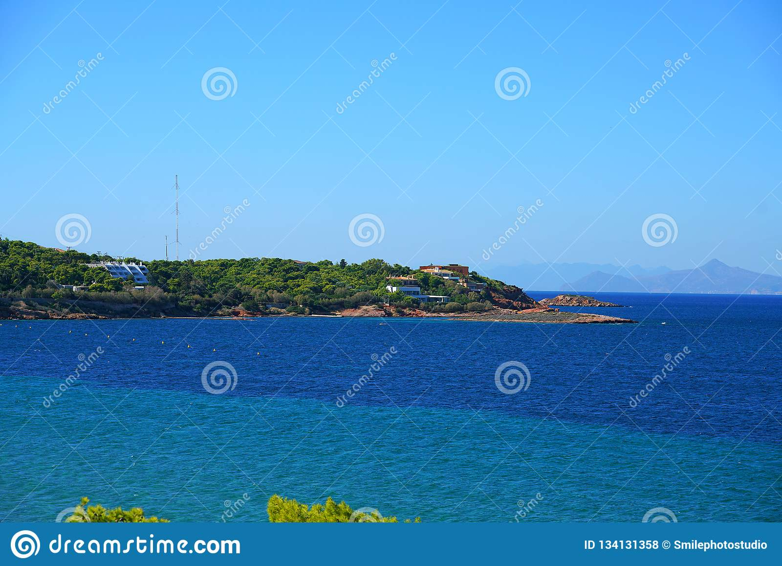 Море бирюзы на Voula, Athen