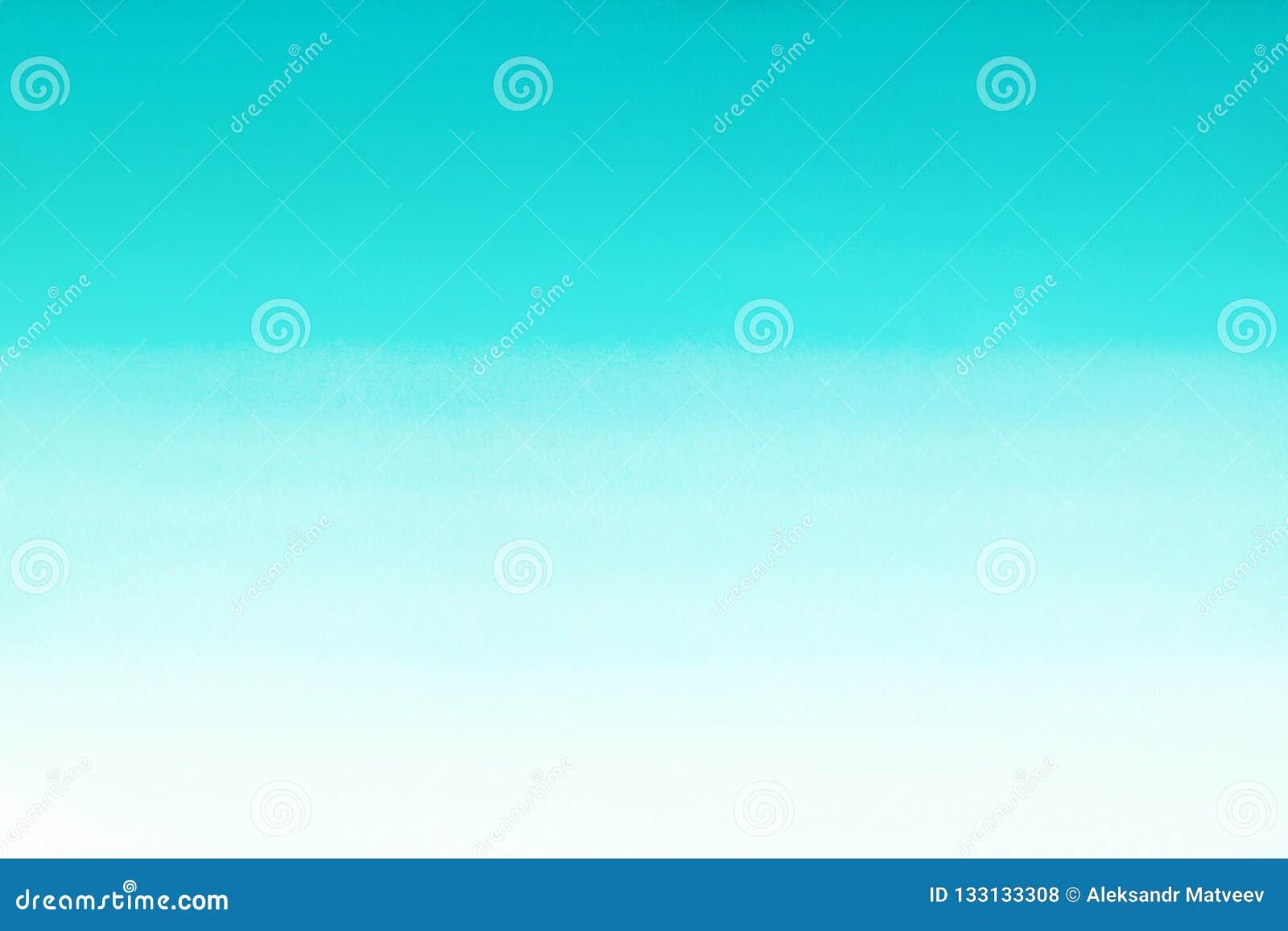 Море океана или небесно-голубая лазурная предпосылка градиента конспекта акварели бирюзы Горизонтальное заполнение градиента wate