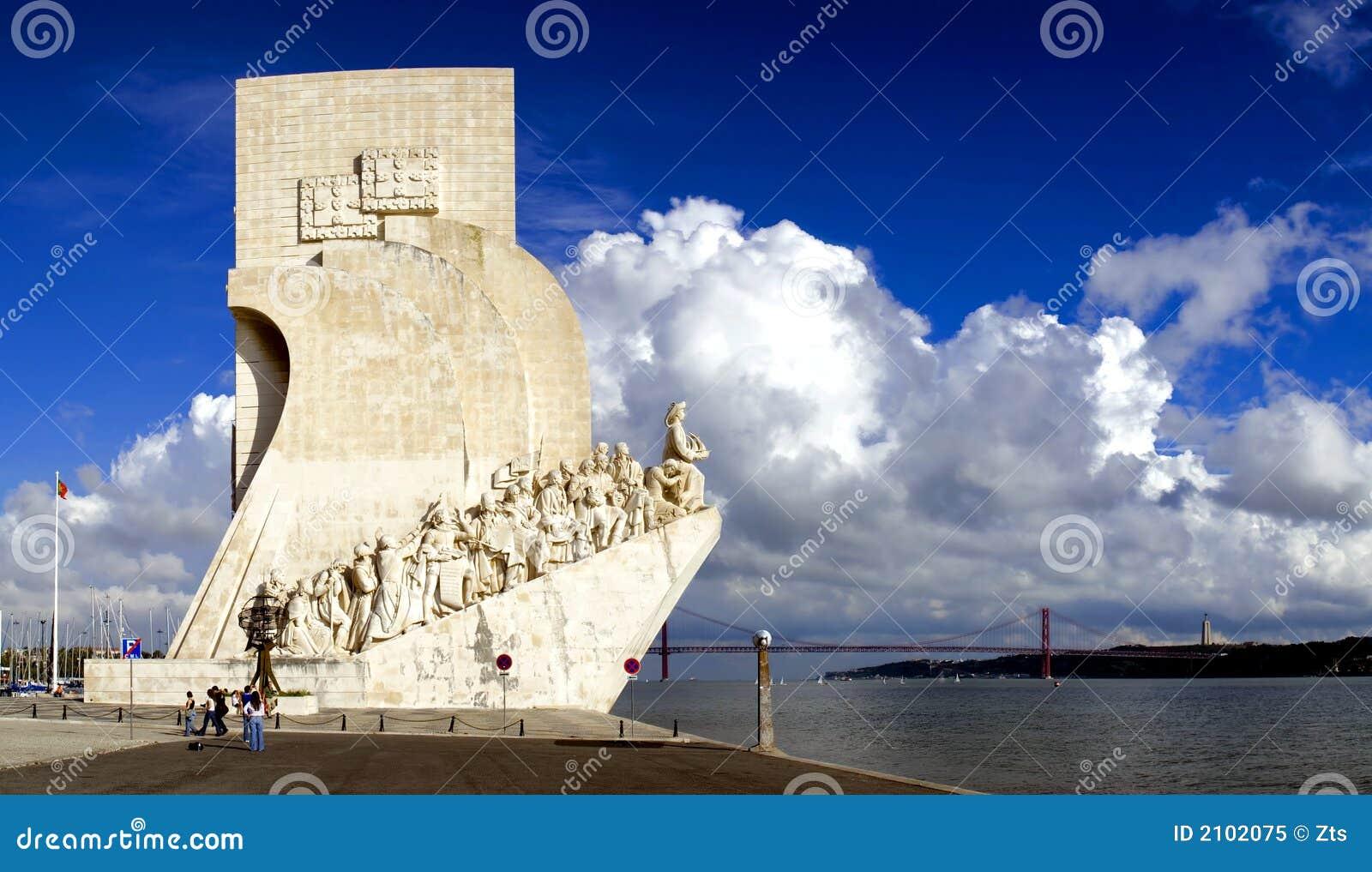 море Португалии памятника lisbon открытий