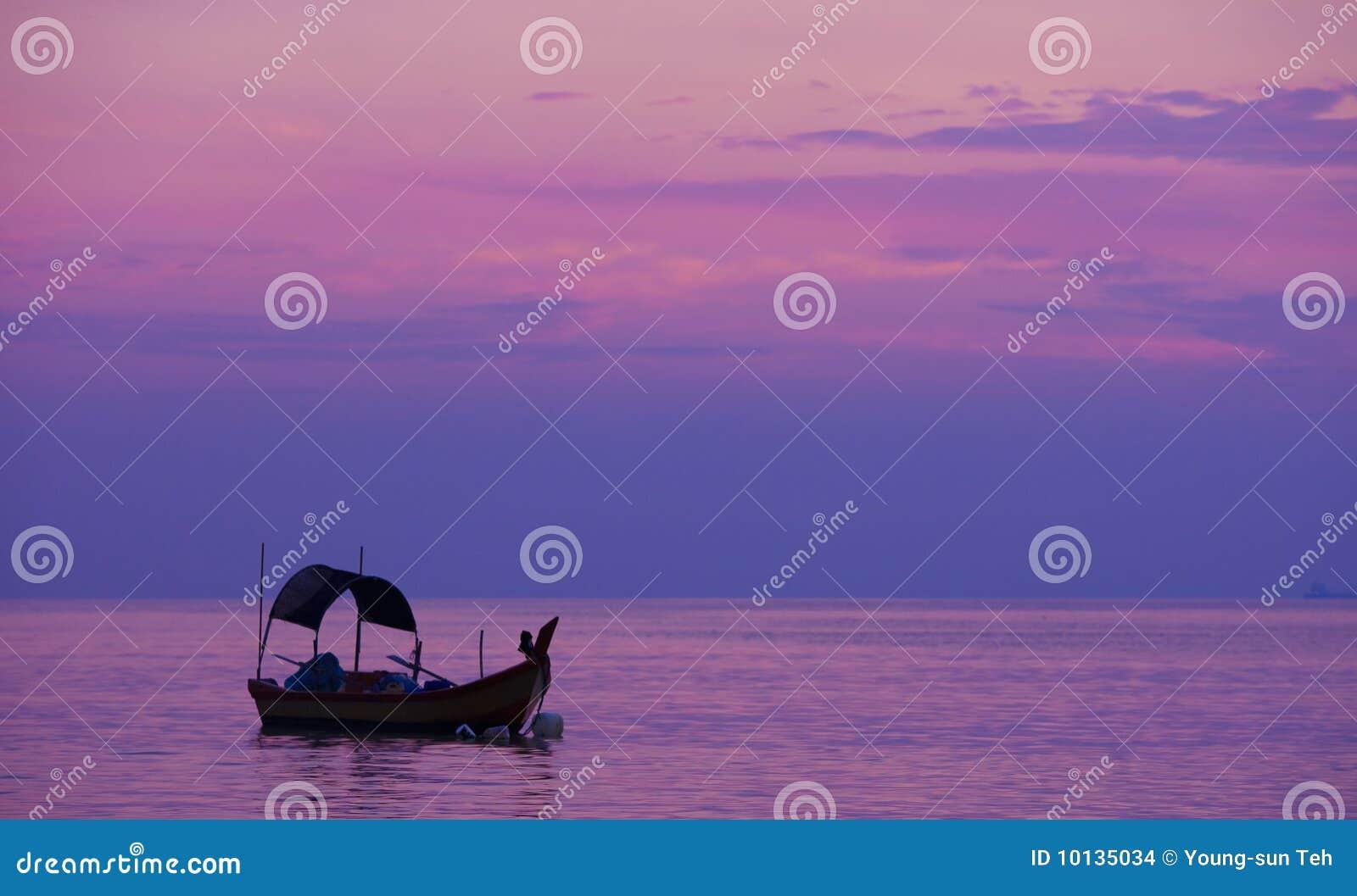 море purplr рыболовства рассвета