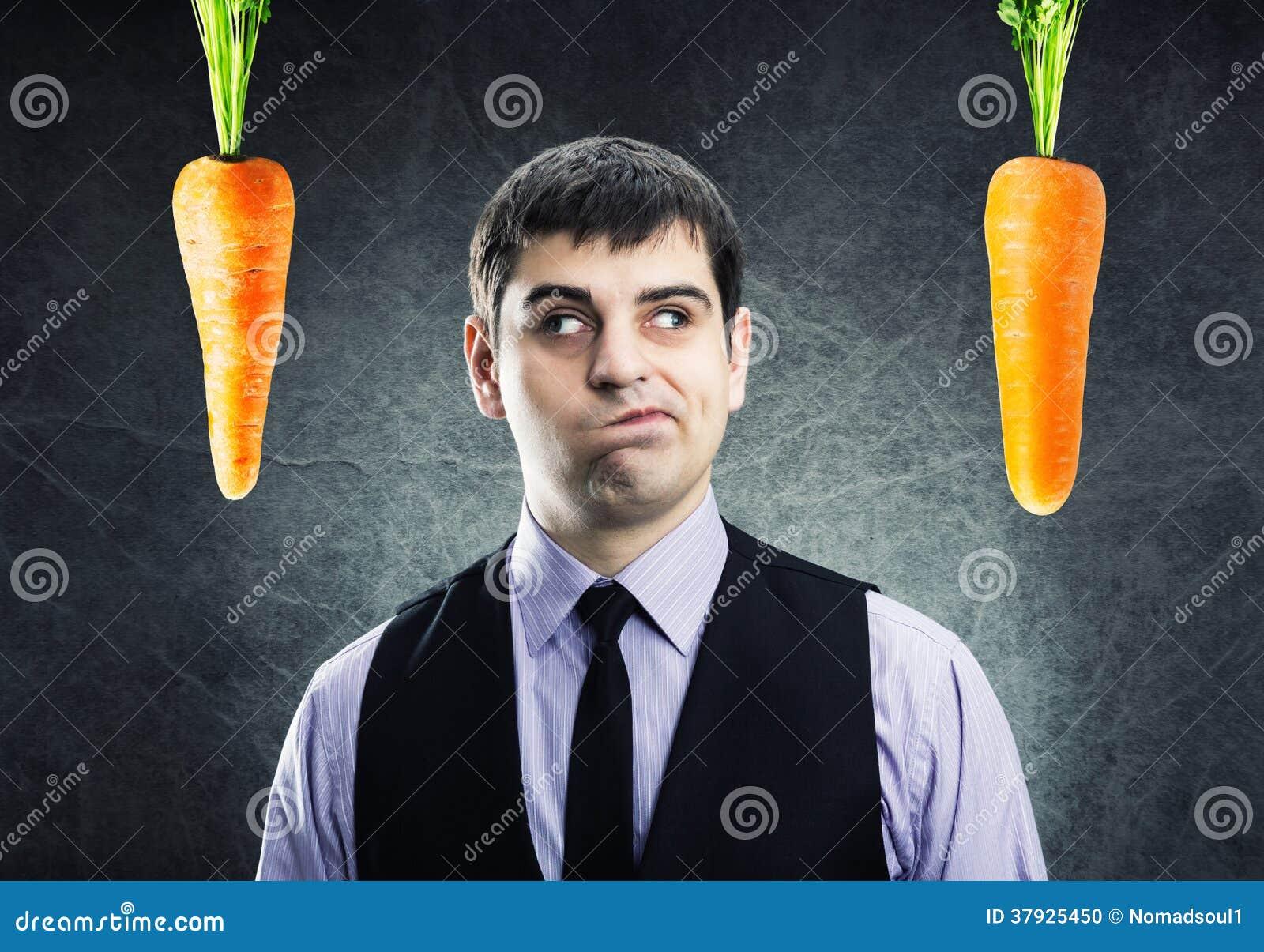 2 моркови и бизнесмен