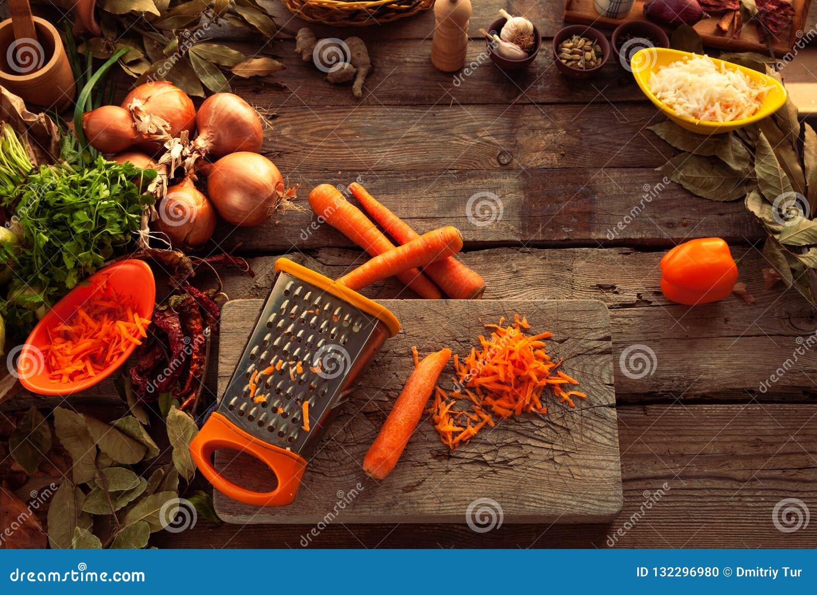 Моркови протиркой на терке