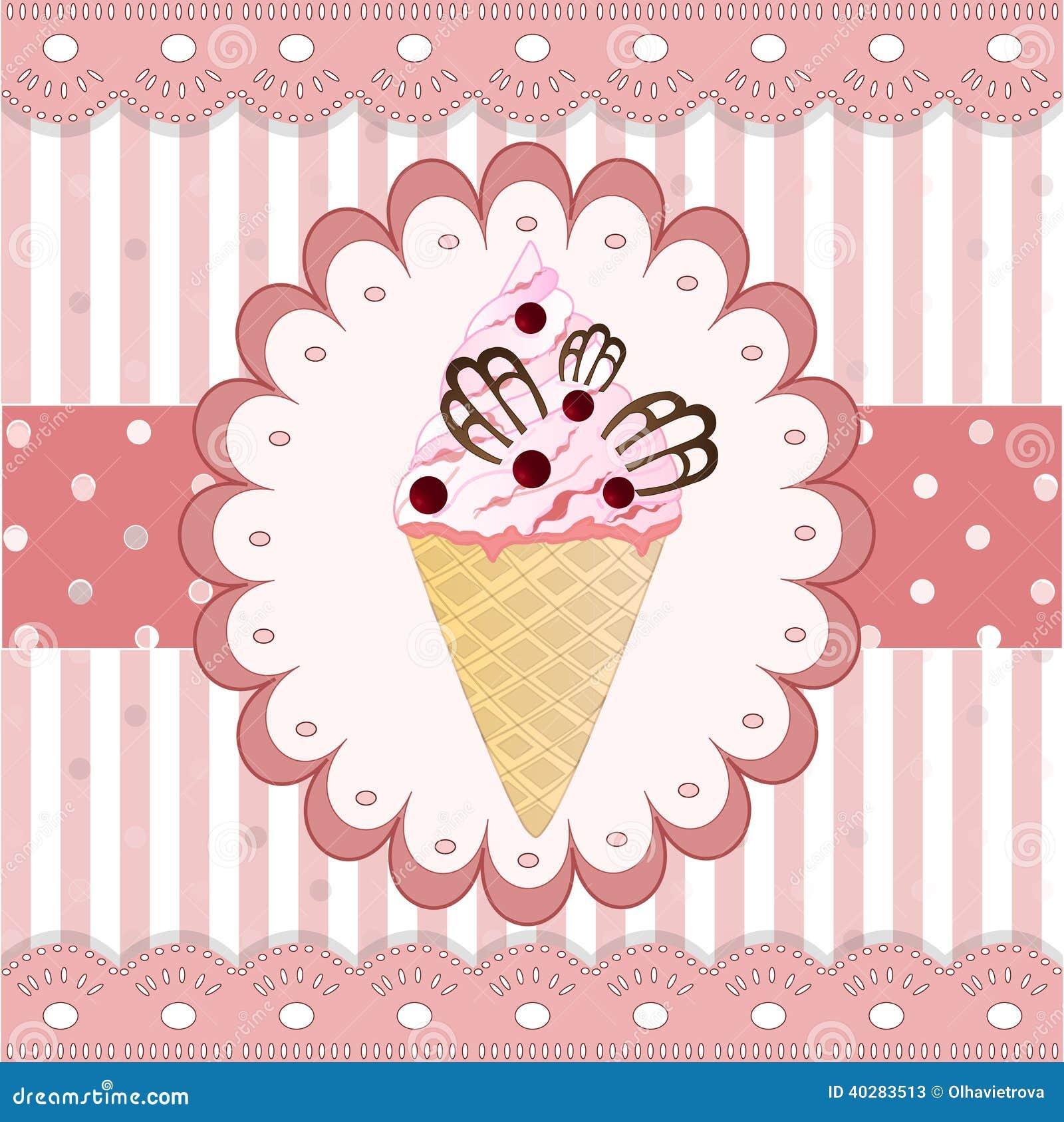 Мороженое клюкв на белой предпосылке