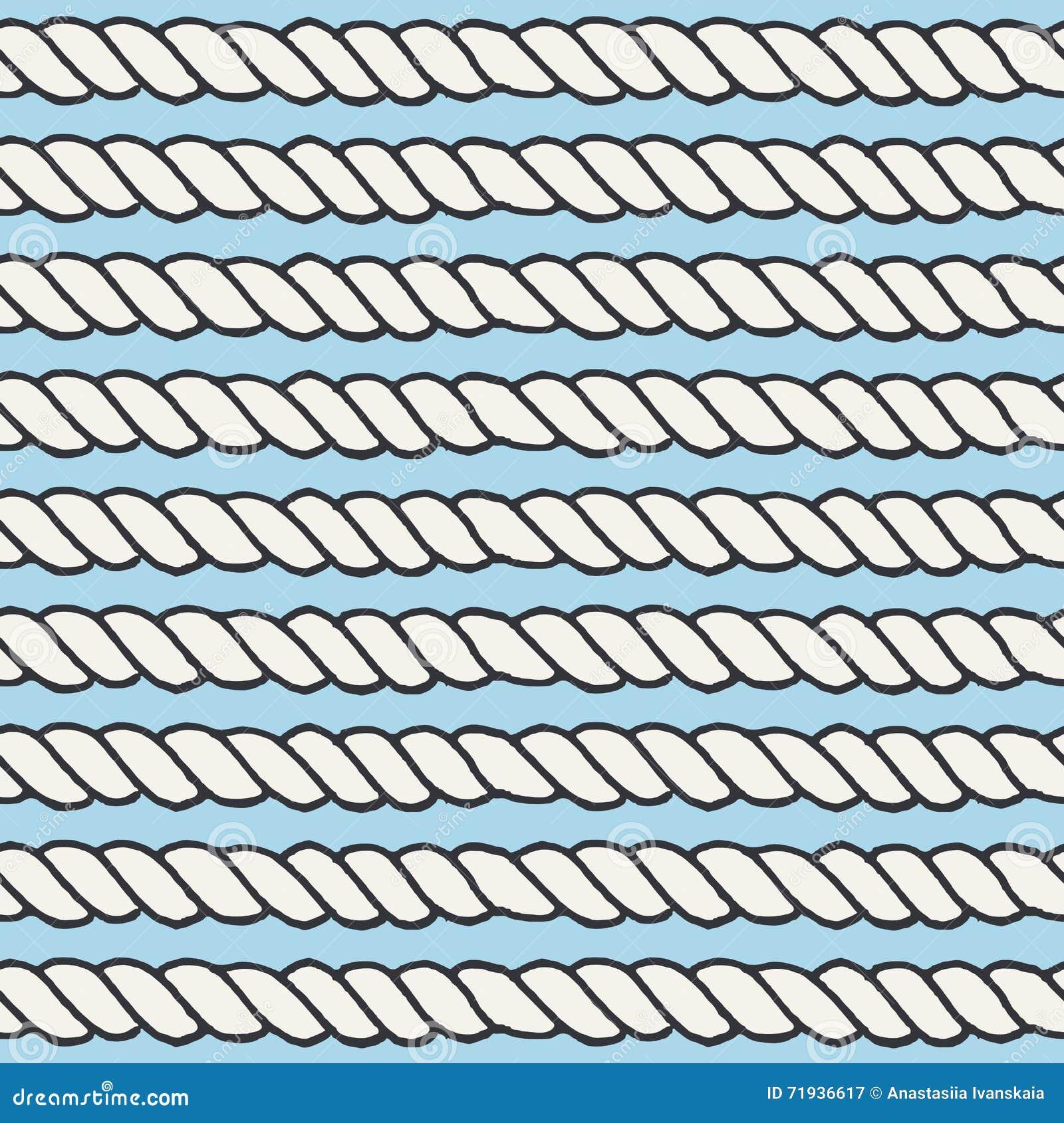 Морская линия безшовная картина веревочки