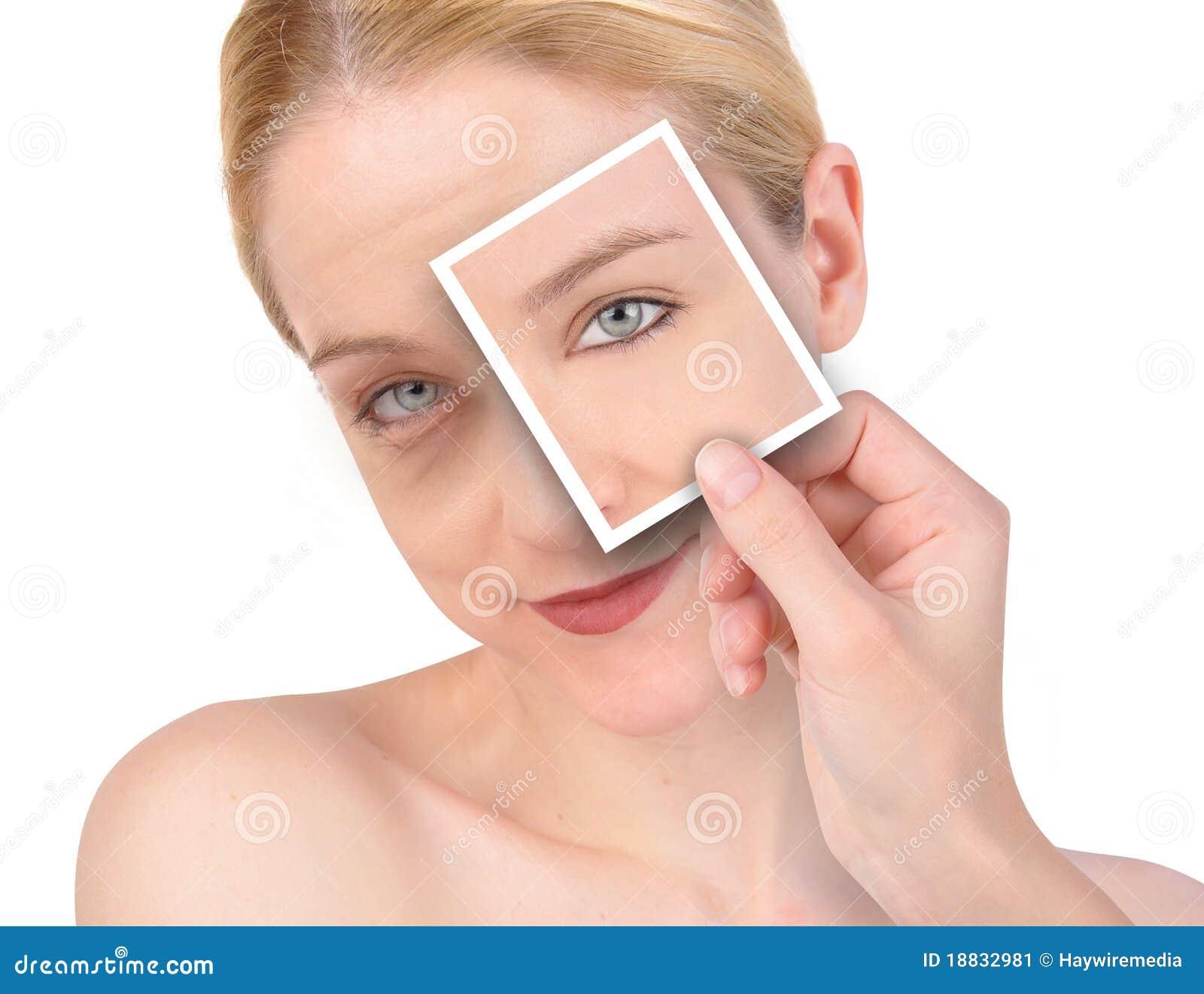 морщинка модернизации глаза красотки