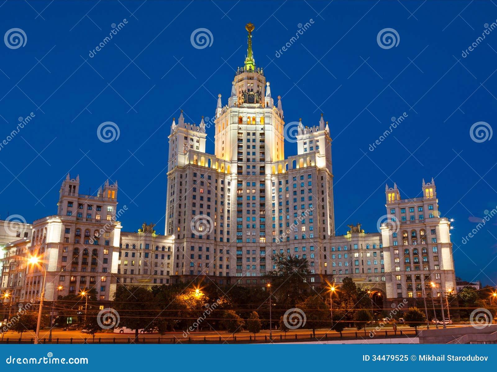 Москва, небоскреб Сталина