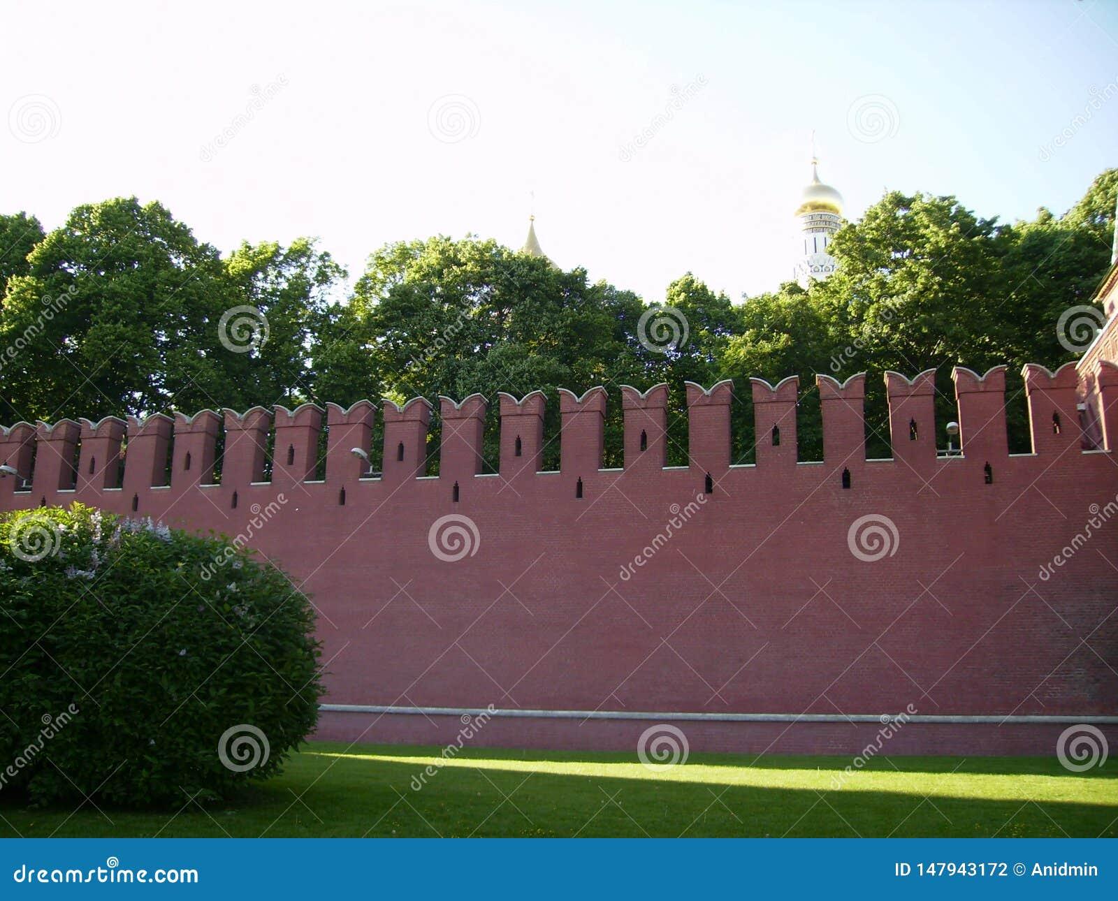 Москва, Россия - 1 Juni 2009: Стена Кремля