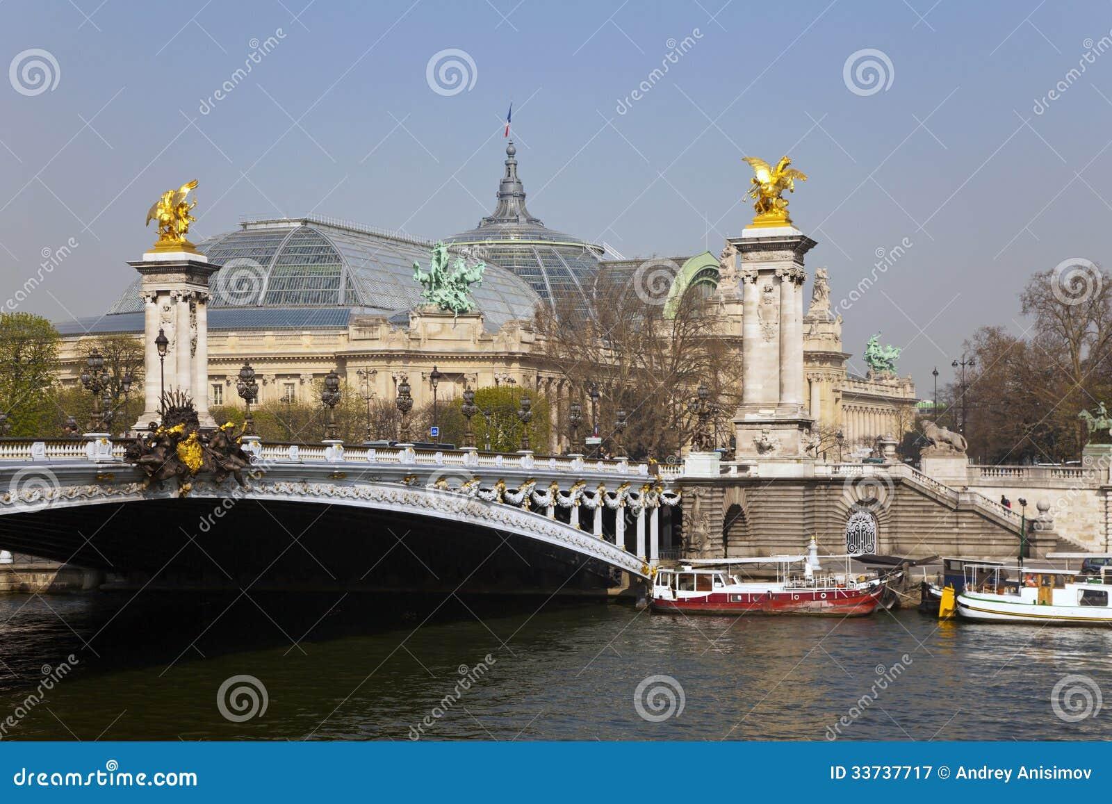 Мост Александр III. Париж, Франция.