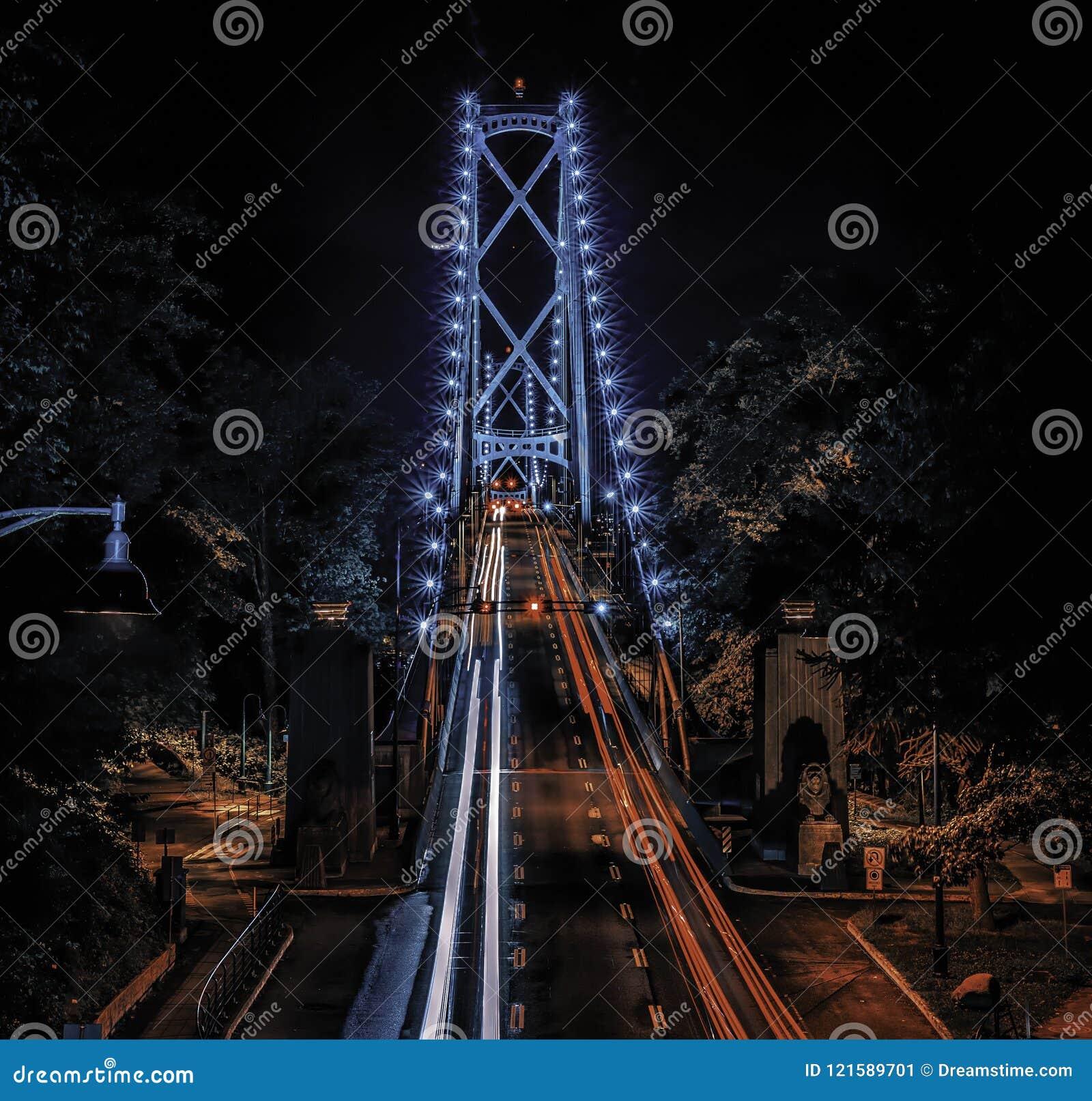 Мост Ванкувер строба львов