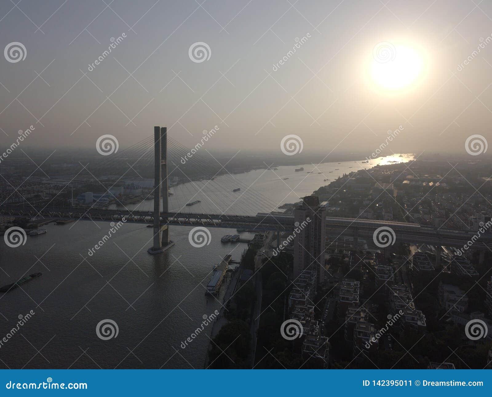 Мост Китая Шанхая Minpu