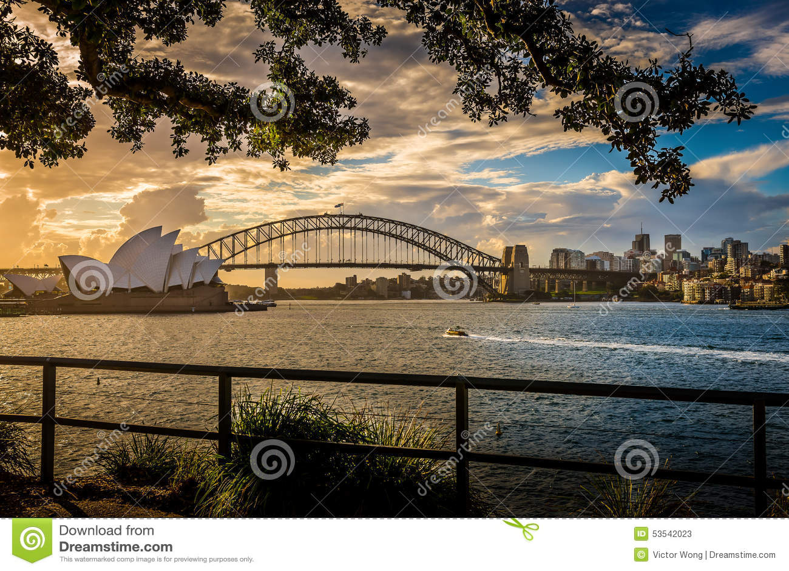 Мост оперного театра & гавани Сиднея