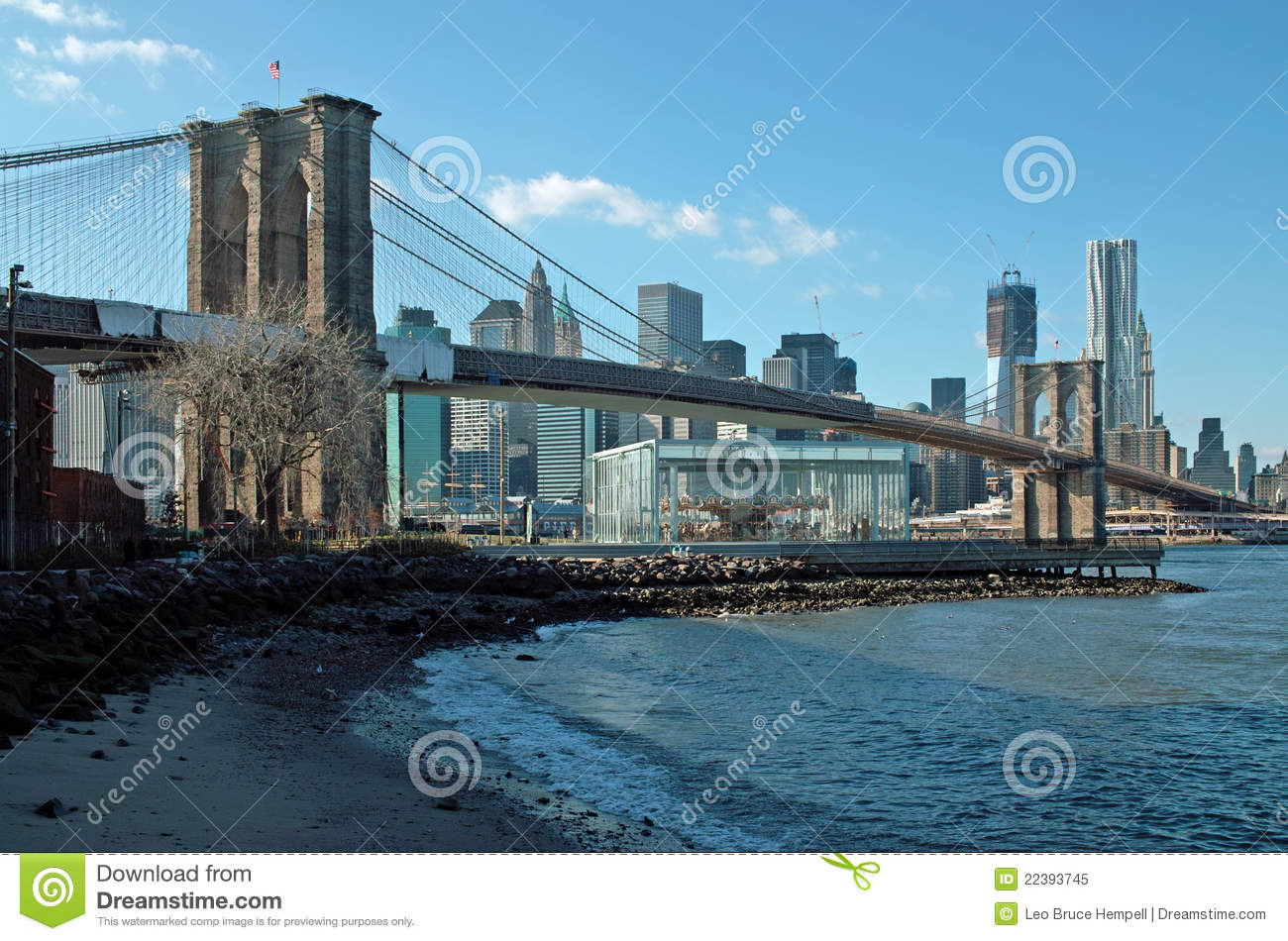 мост brooklyn New York
