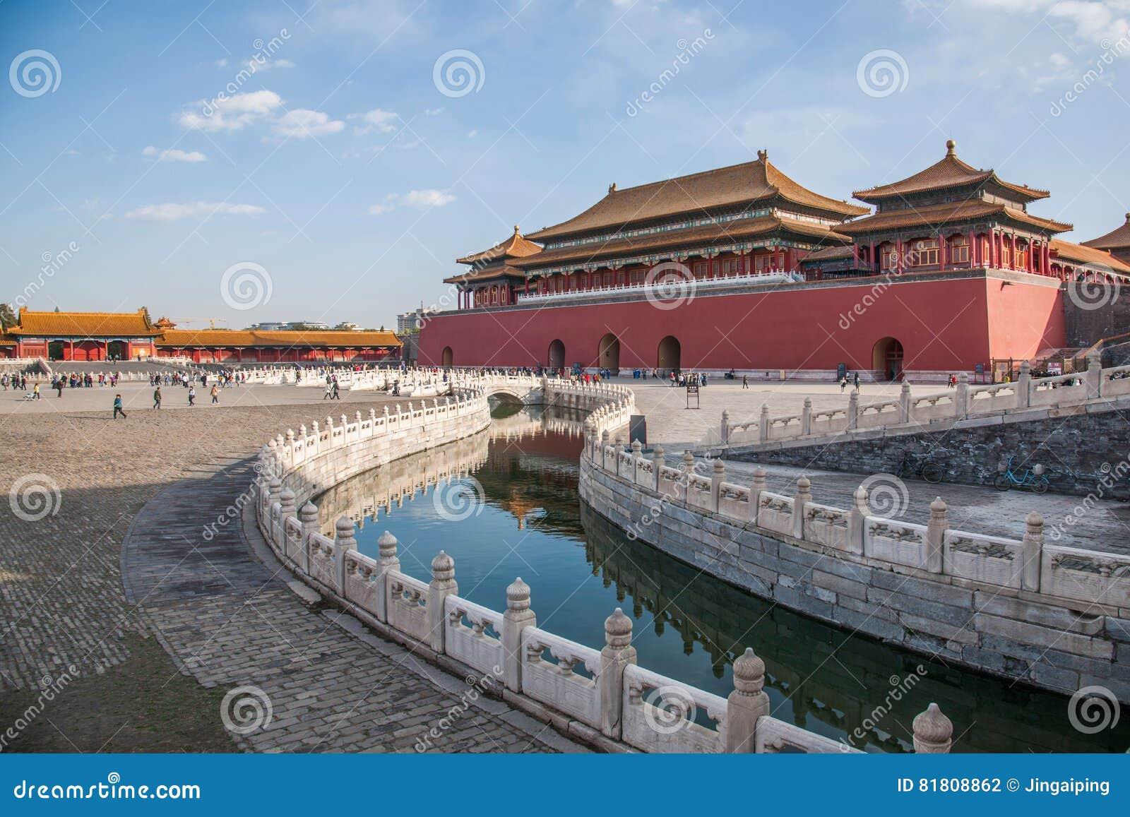 Мост Jinshui музея национального дворца Пекина