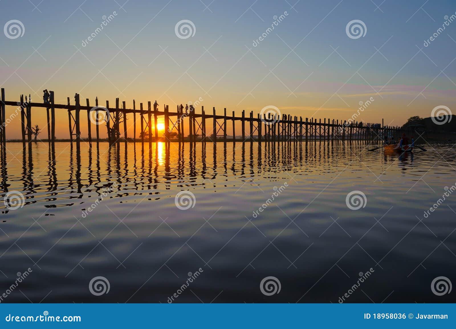 мост mandalay myanmar u bein