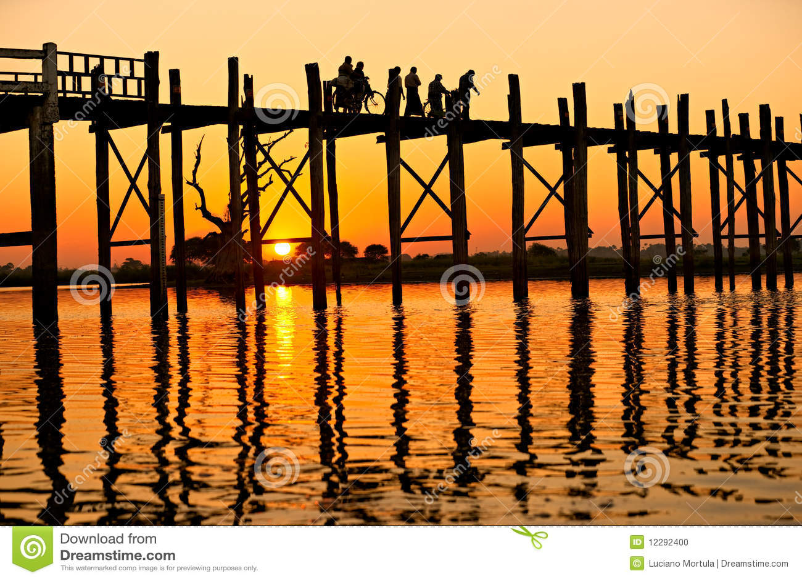 мост mandalay myanmar u bein amarapura