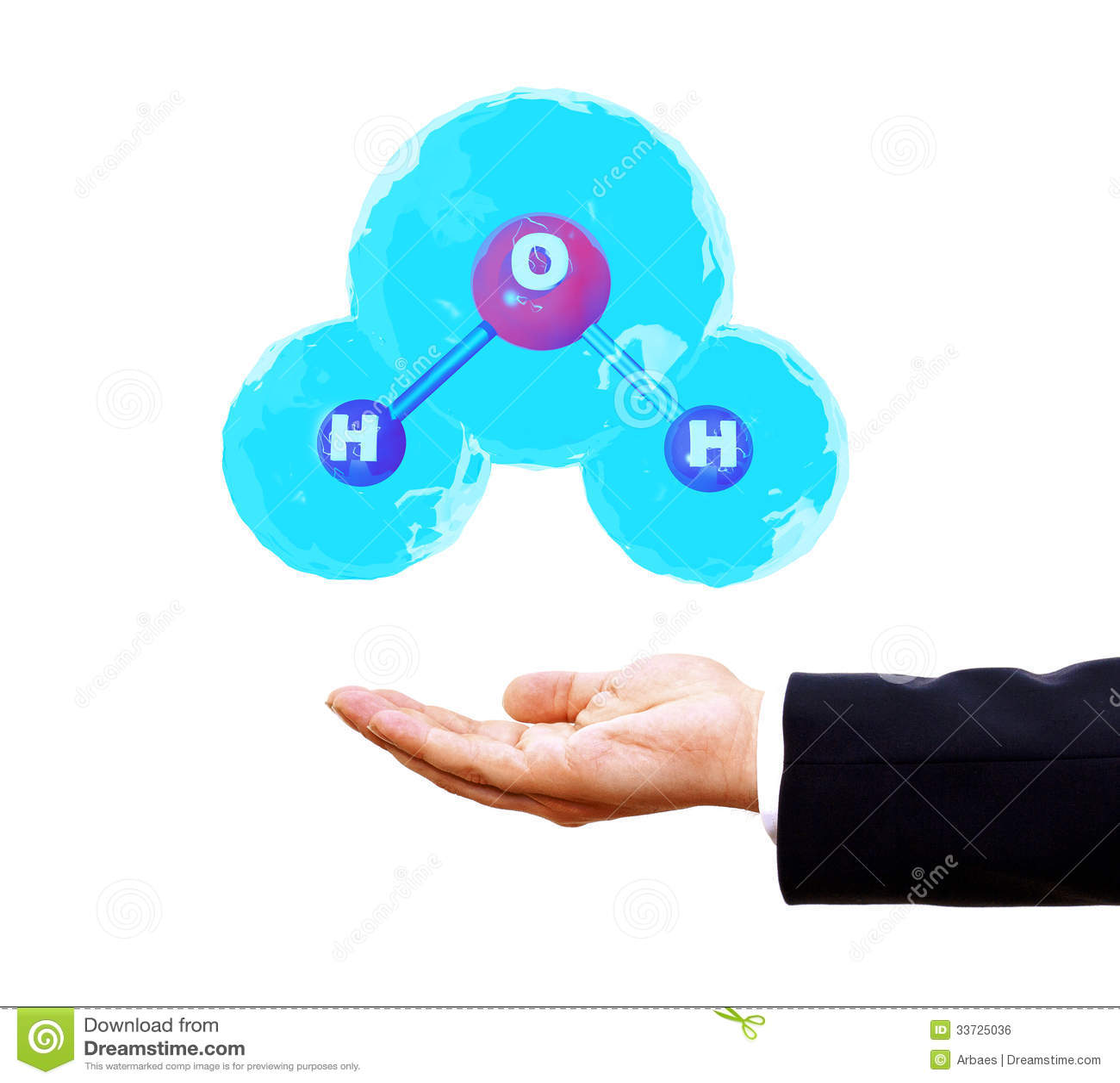 молекула воды 3d