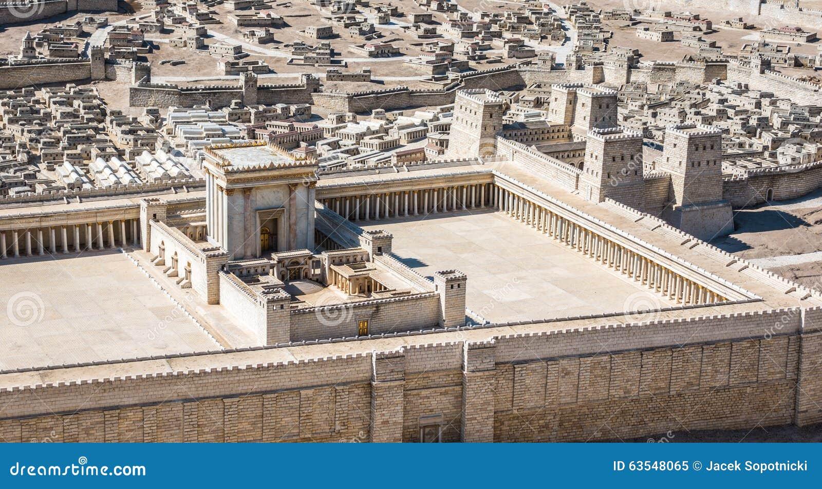 Модель виска Иерусалима от первого века c e