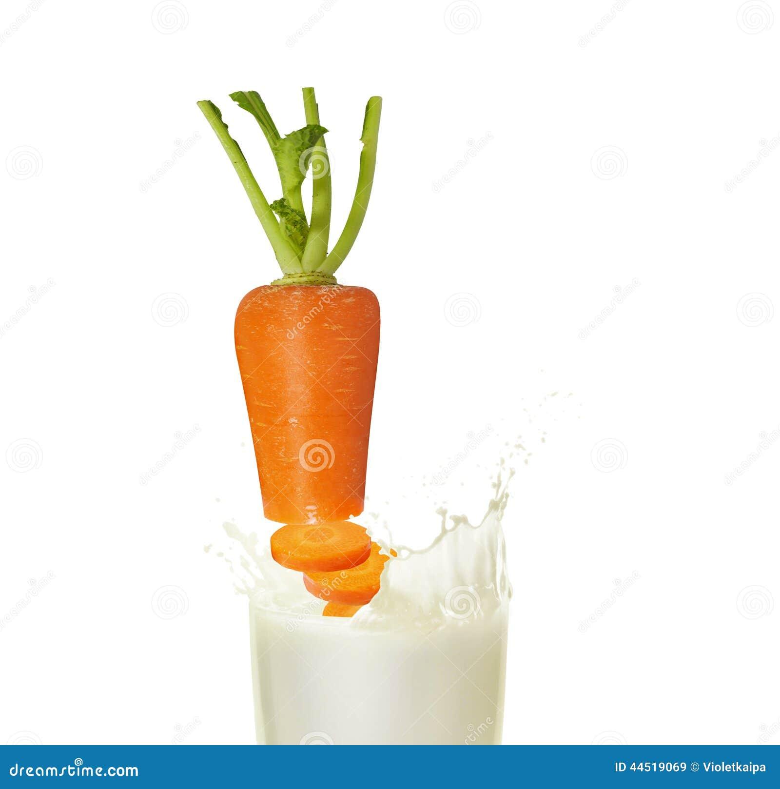 молоко с морковью