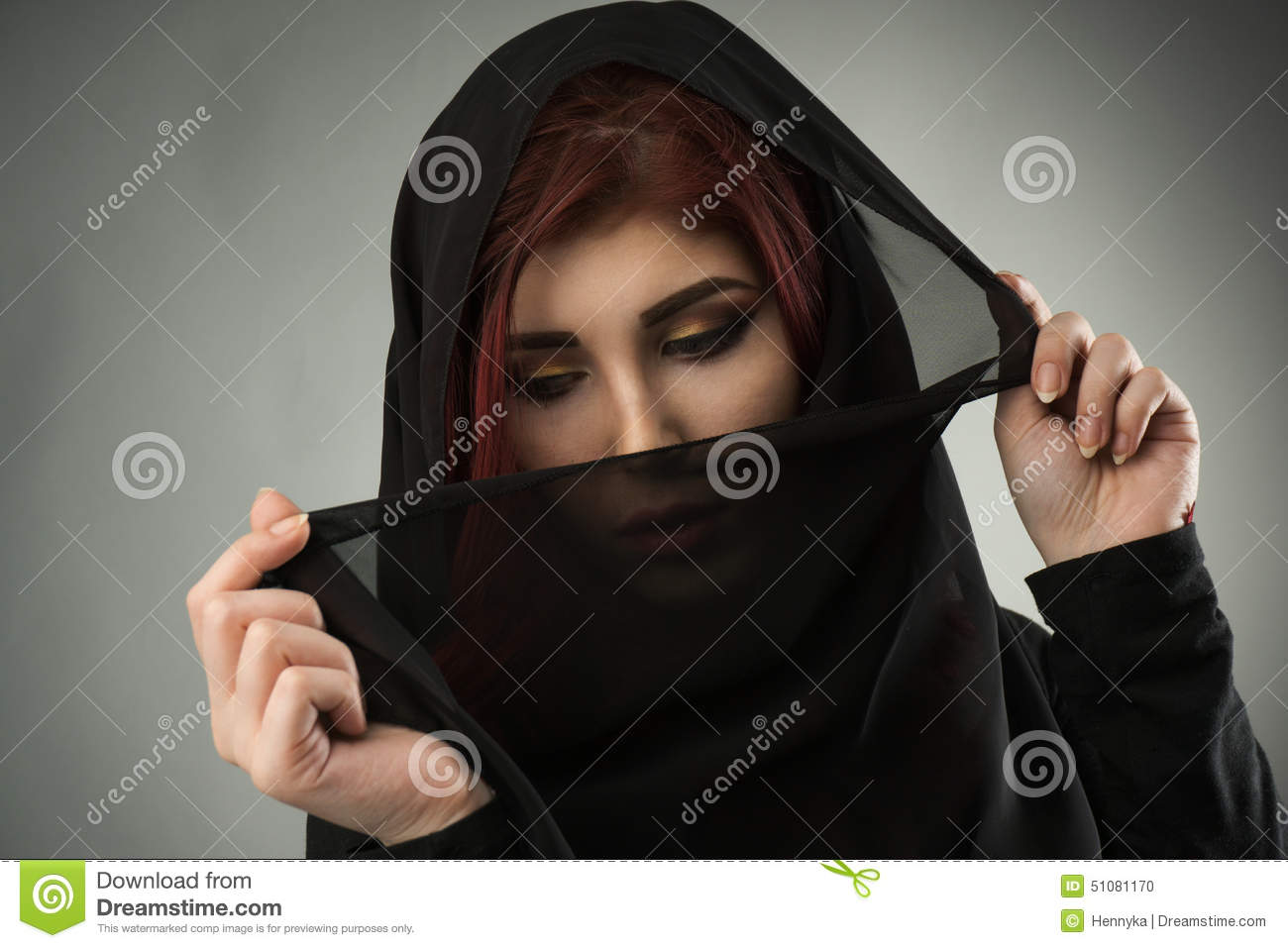 the women covered by a veil