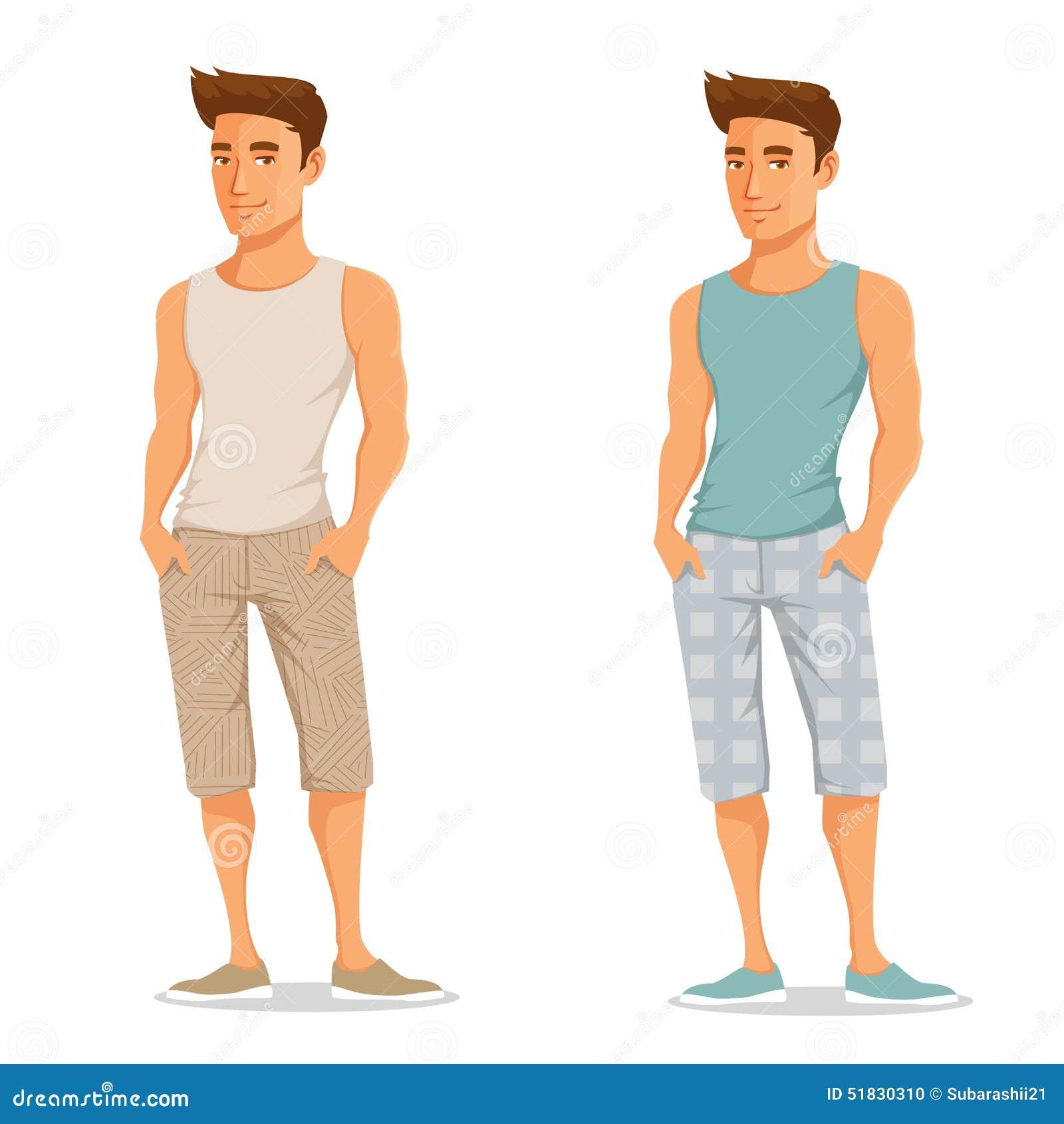 Молодой красивый парень в одеждах лета