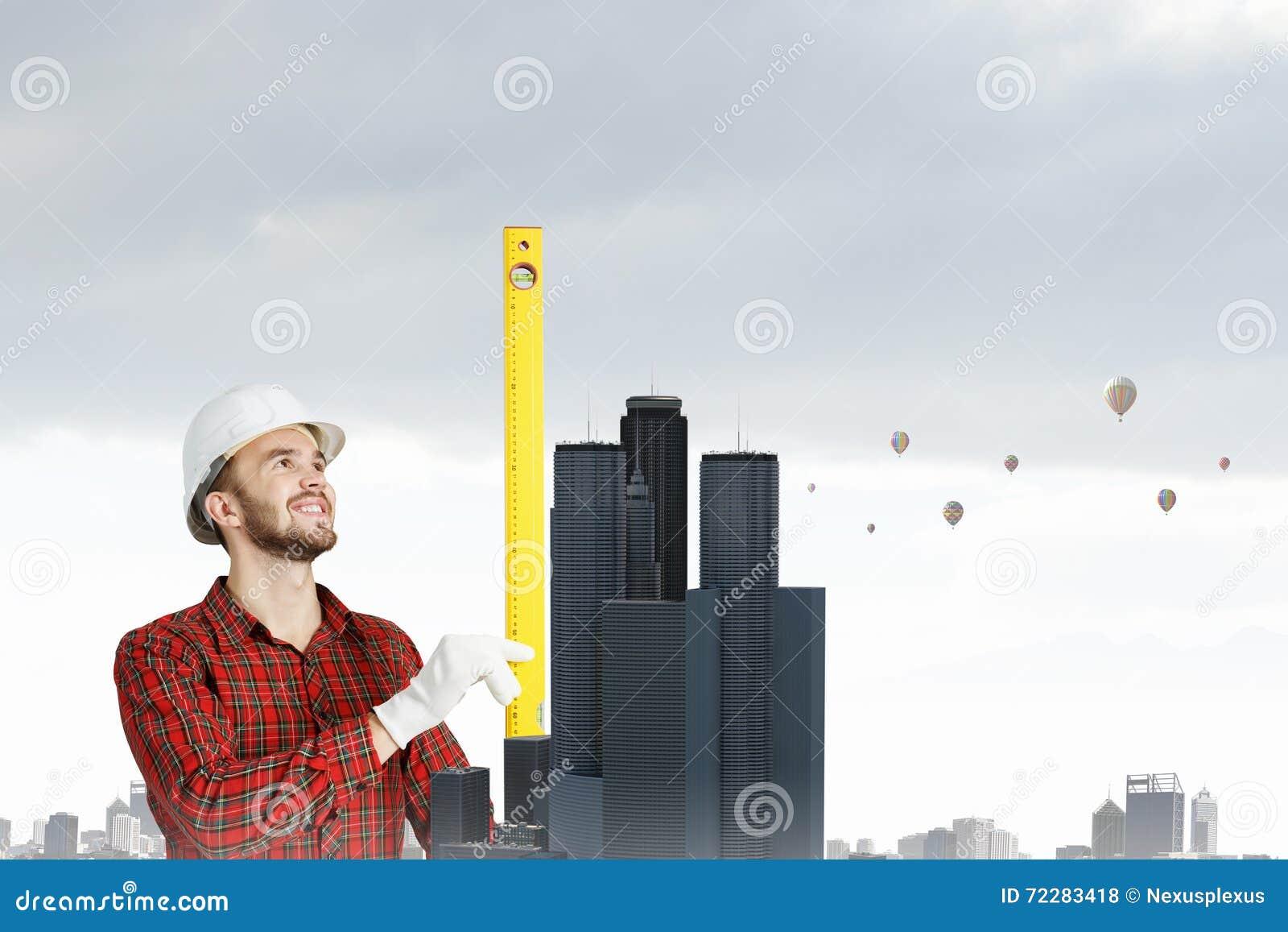 Download Молодой человек инженера стоковое фото. изображение насчитывающей оборудование - 72283418