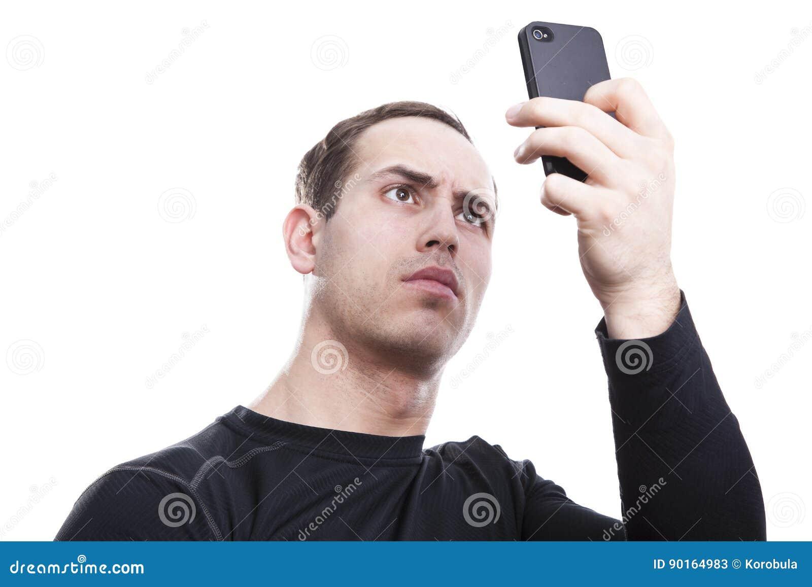 Молодой человек с smartphone