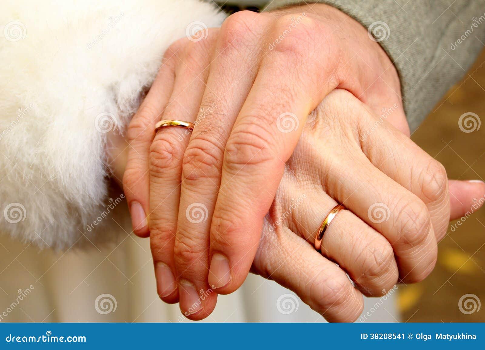 мужская рука с обручальным кольцом