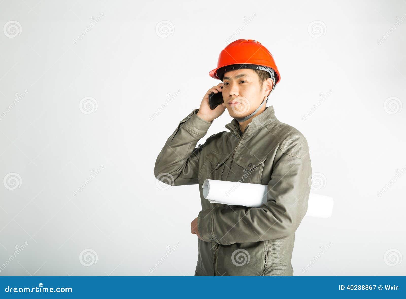 Мужской рабочий-строитель