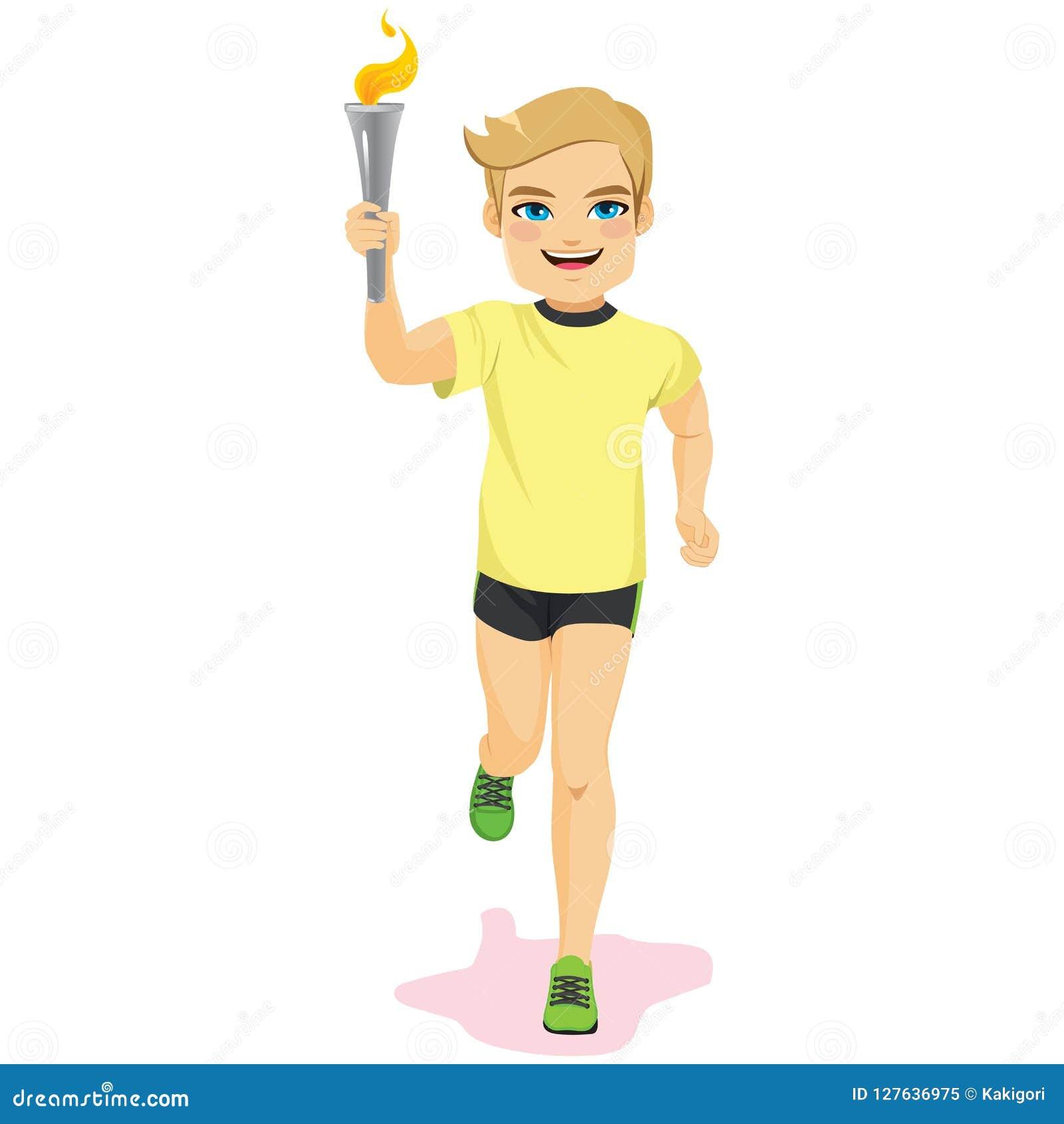 что-ж, будем картинка спортсмен бежит с факелом практичная она