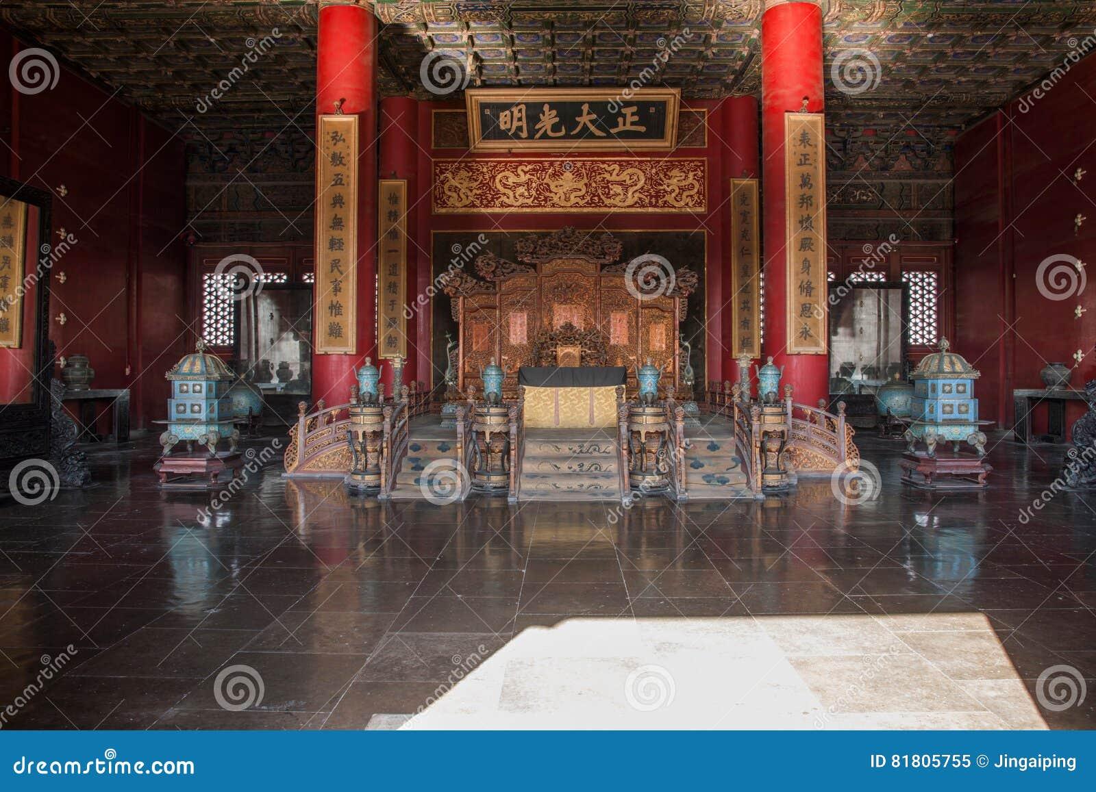 Музей дворца Пекина установленный внутри дворец