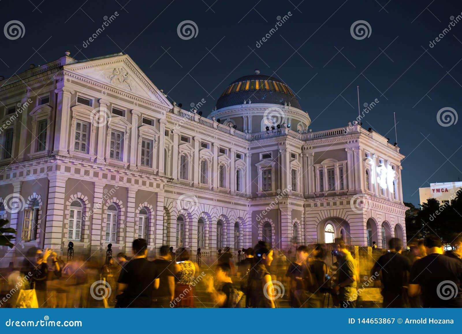 Музей Сингапура - фестиваль ночи