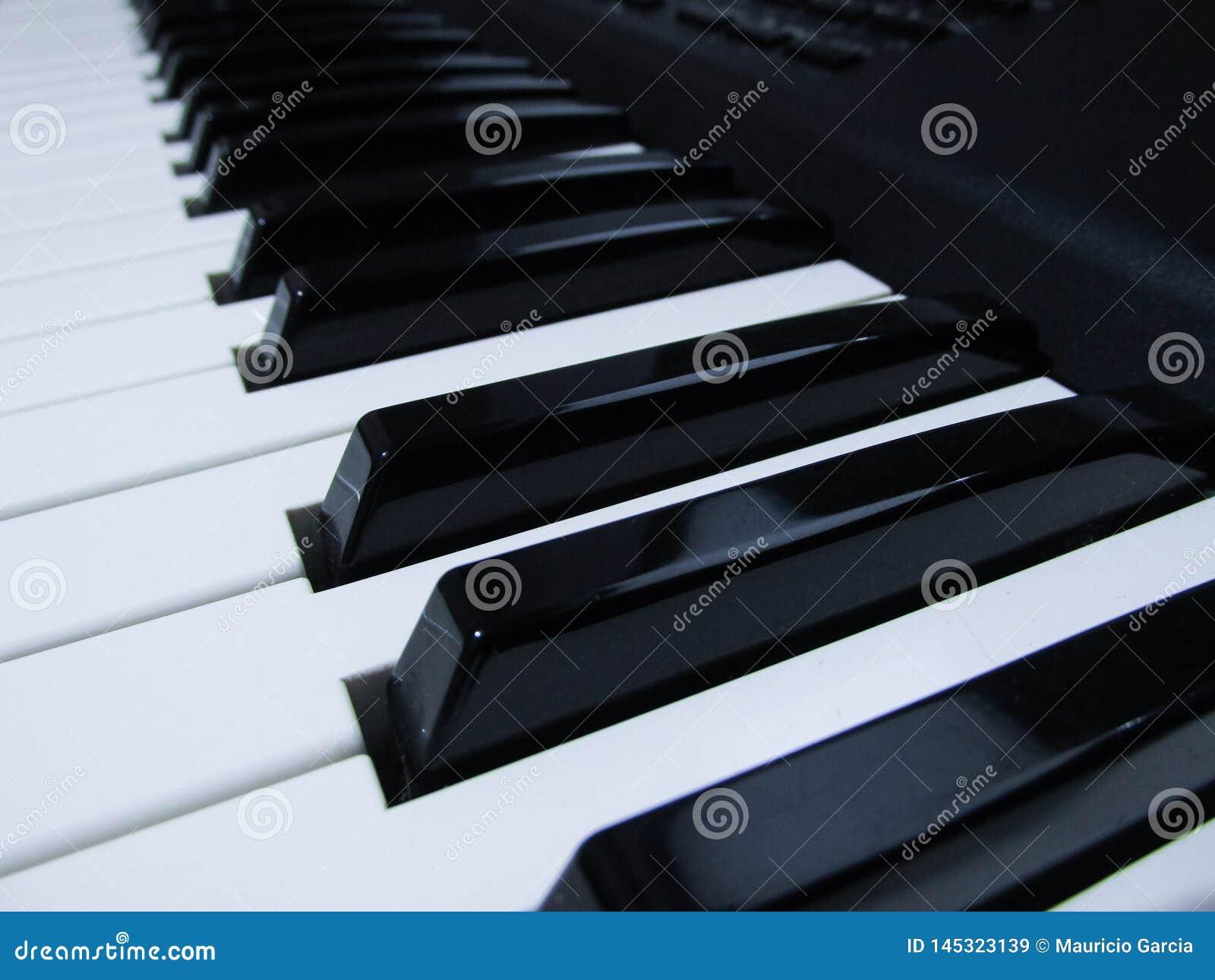 Музыкальный инструмент рояля и клавиатуры