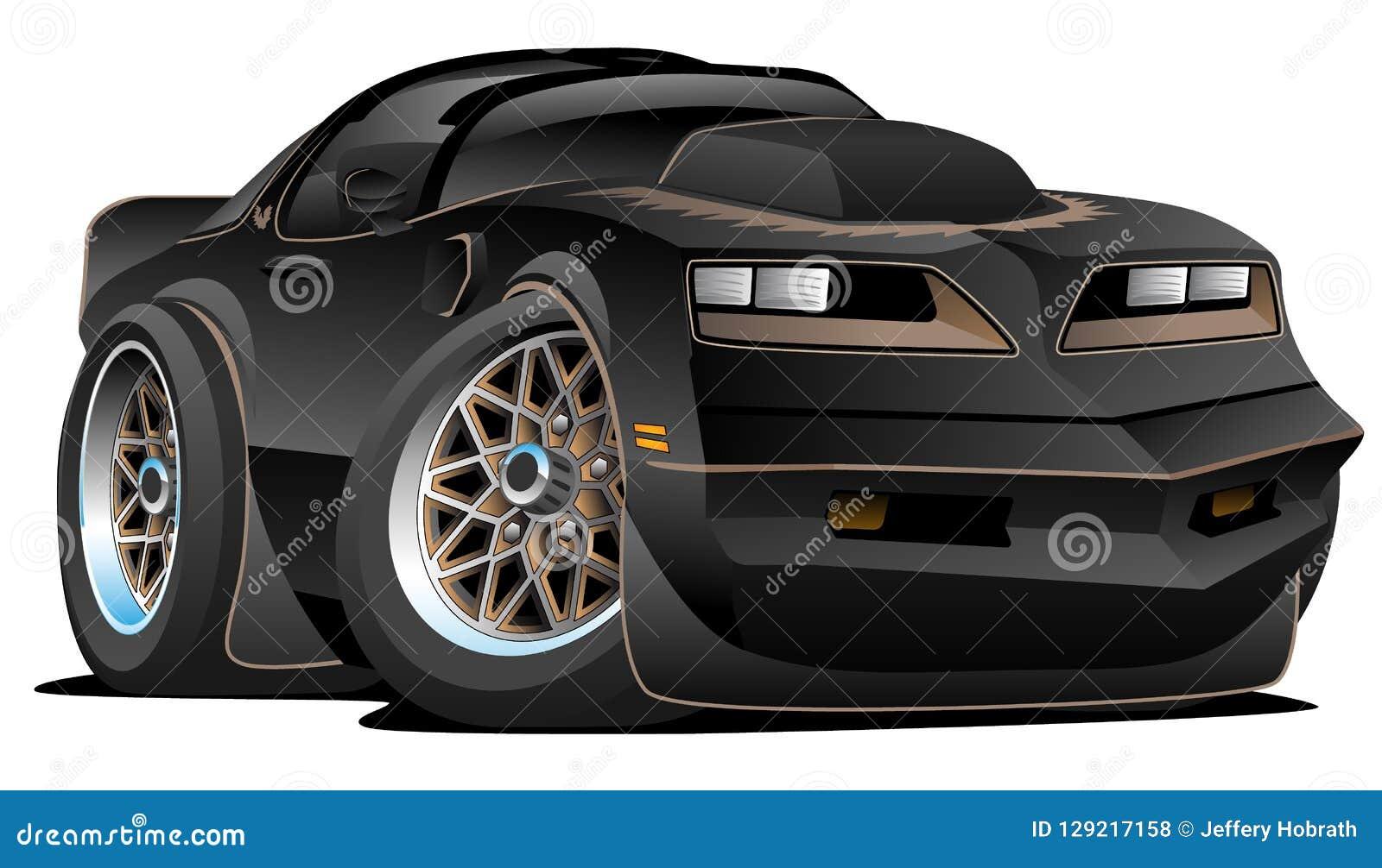 Мультфильм автомобиля мышцы 77 классик