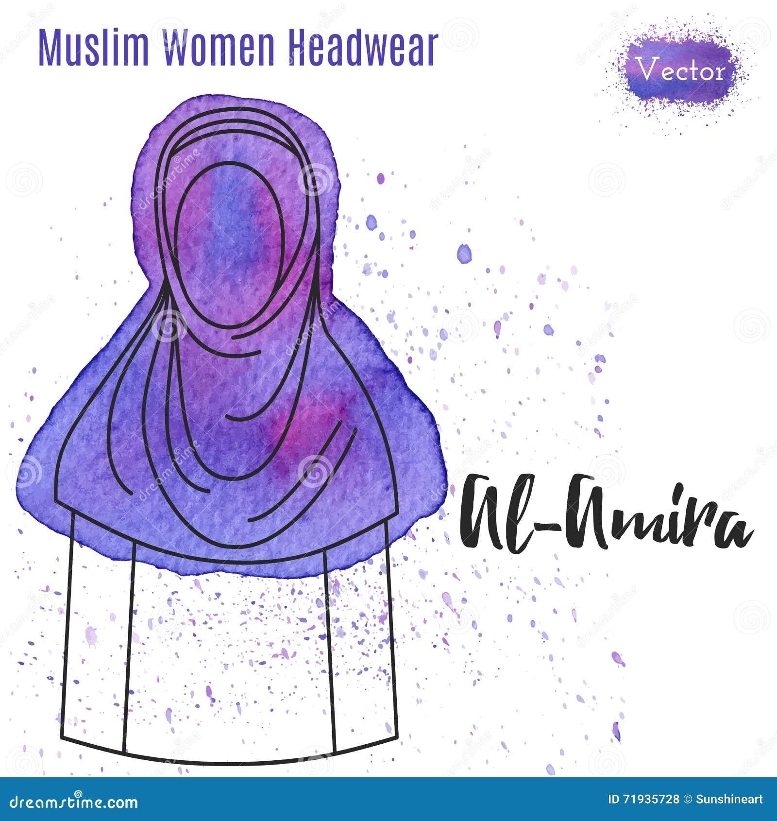 Мусульмане, исламский женский headgear
