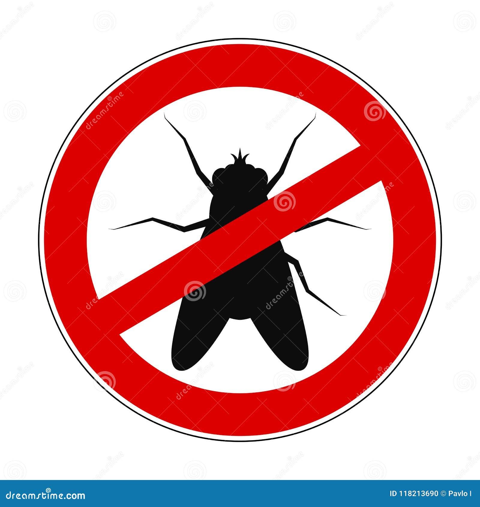 Муха запрета знака анти- - вектор