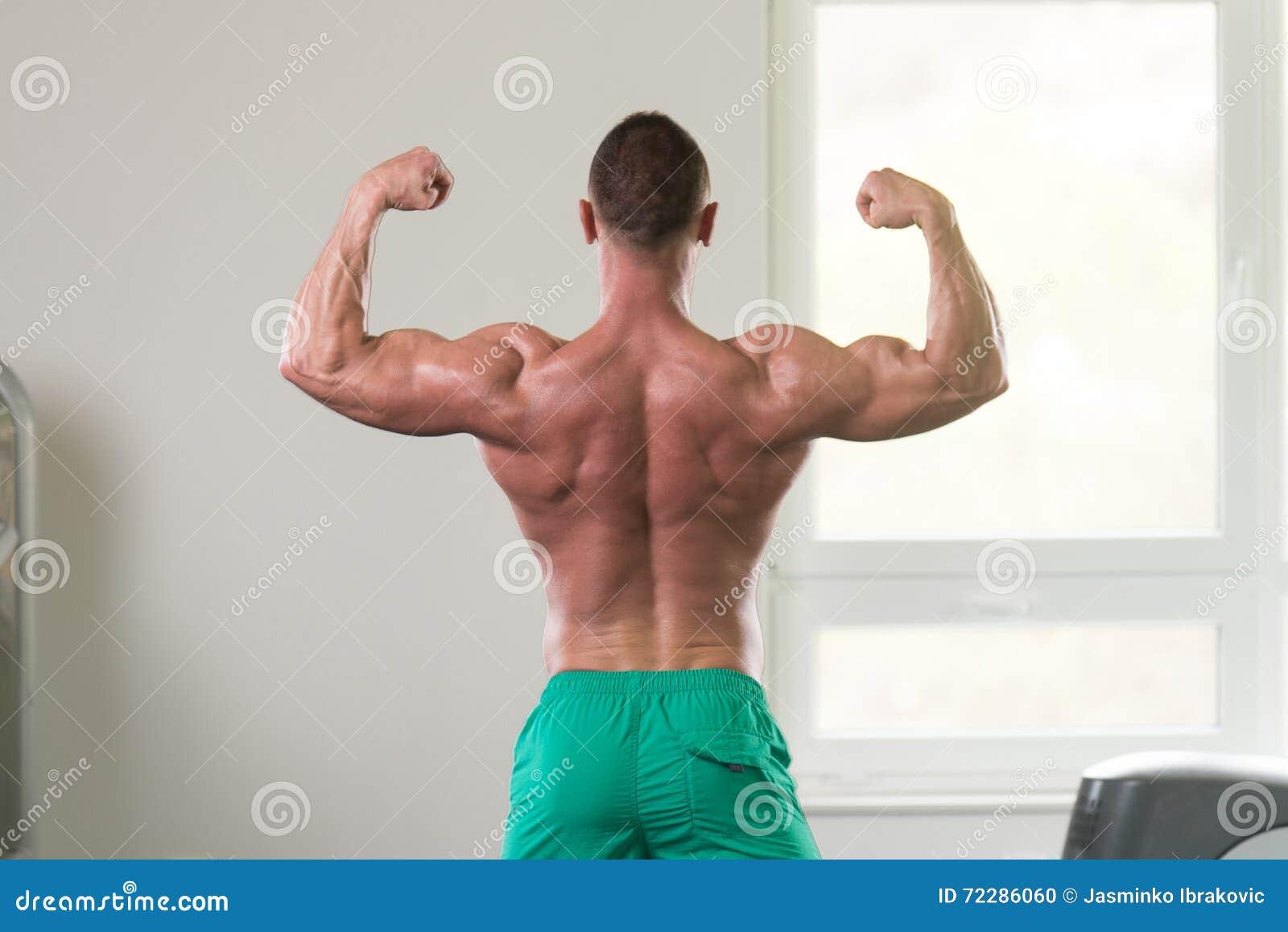 Download Мышечный человек изгибая мышцы в спортзале Стоковое Фото - изображение насчитывающей диетпитание, здоровье: 72286060