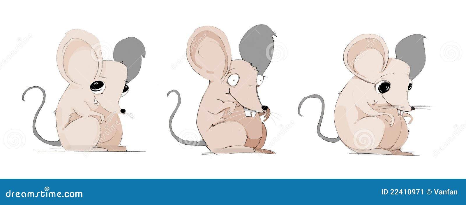 Кот и мыши рисованные