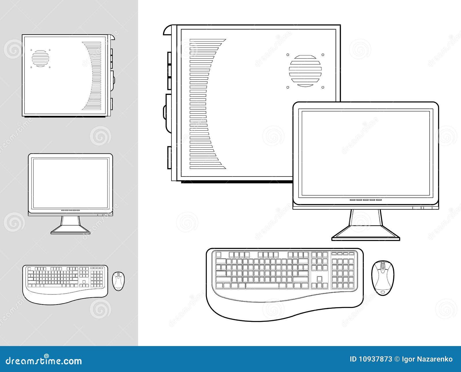 мышь монитора клавиатуры компьютера случая
