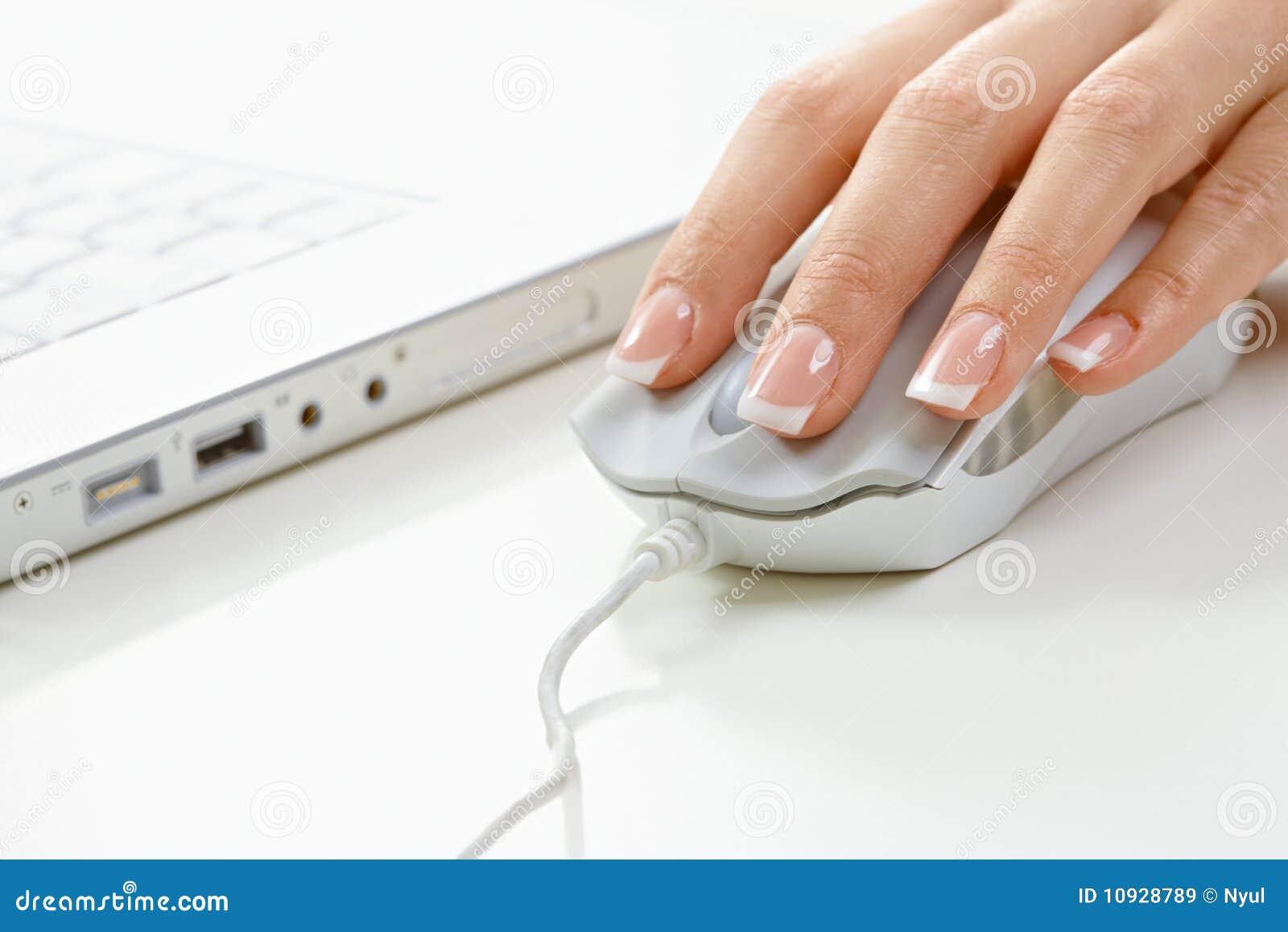 мышь перстов компьютера