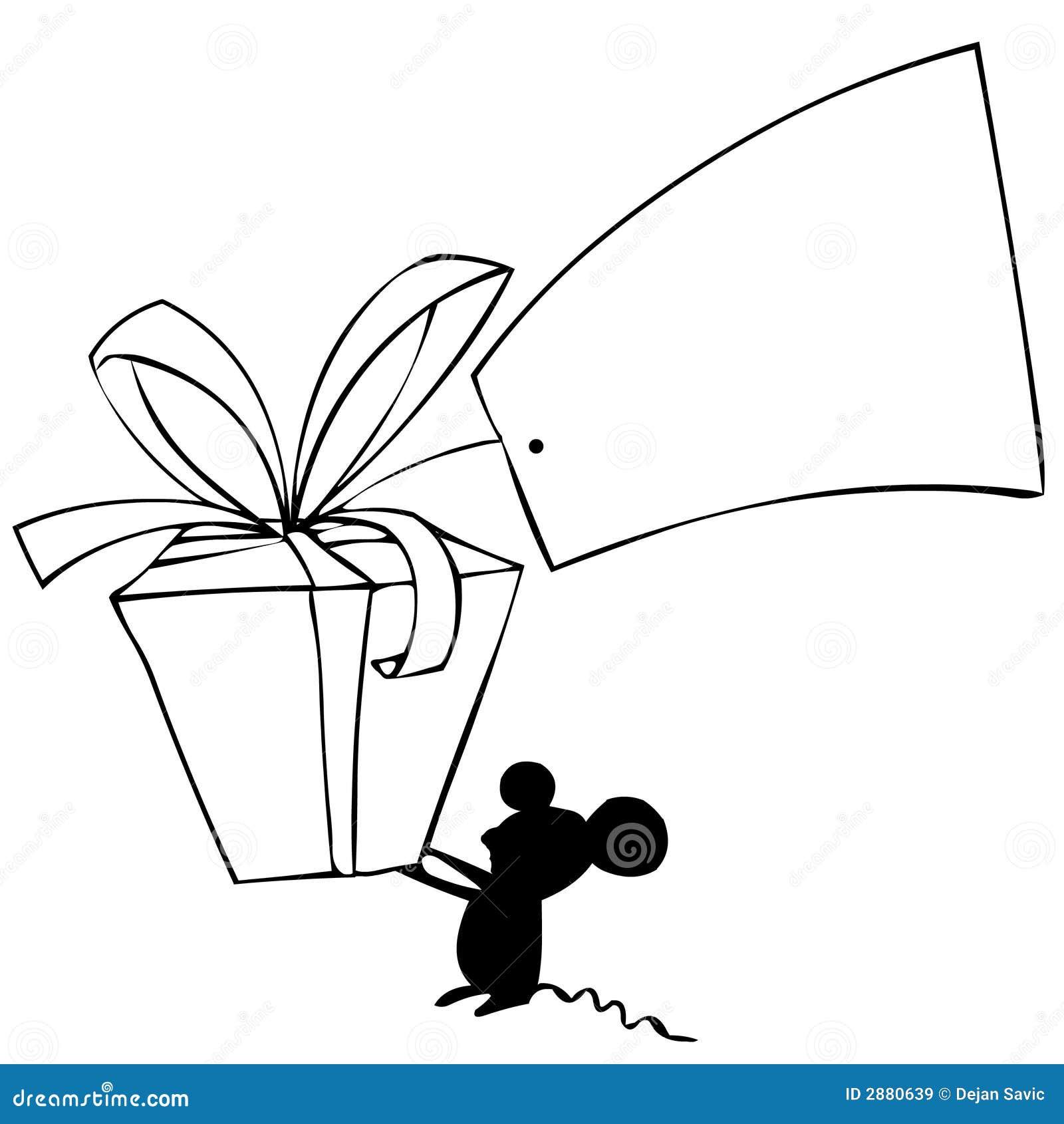 мышь подарка