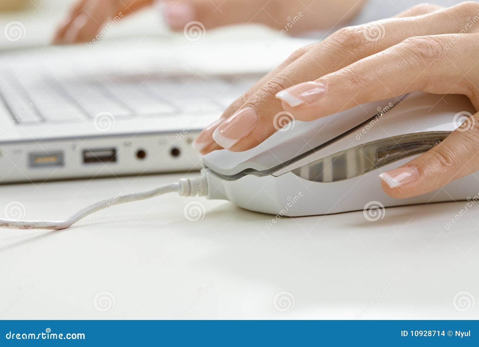 мышь руки компьютера ckliks женская
