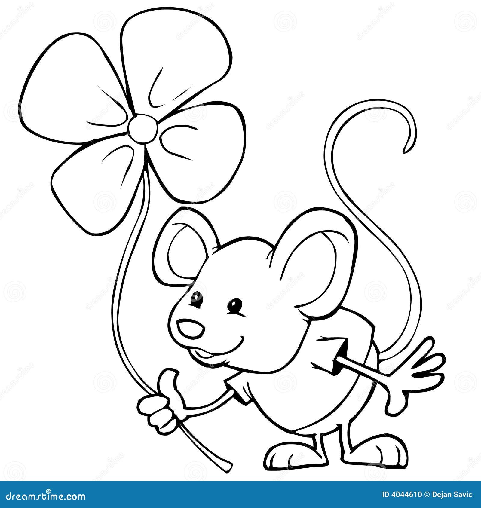 мышь цветка