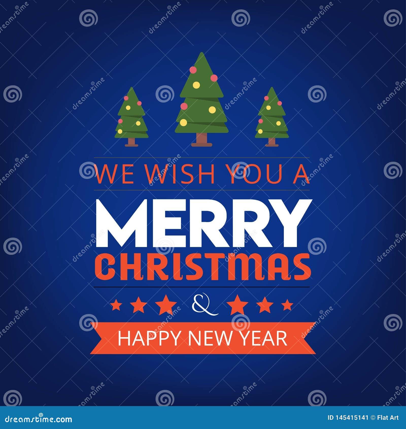 Мы желаем вам веселое рождество и счастливую предпосылку Нового Года