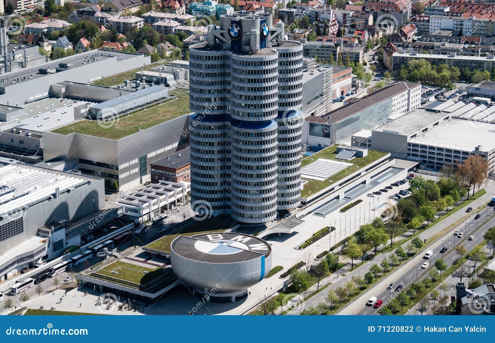 Мюнхен, Германия, 24-ое апреля 2016: Штабы BMW в Мюнхене Германии