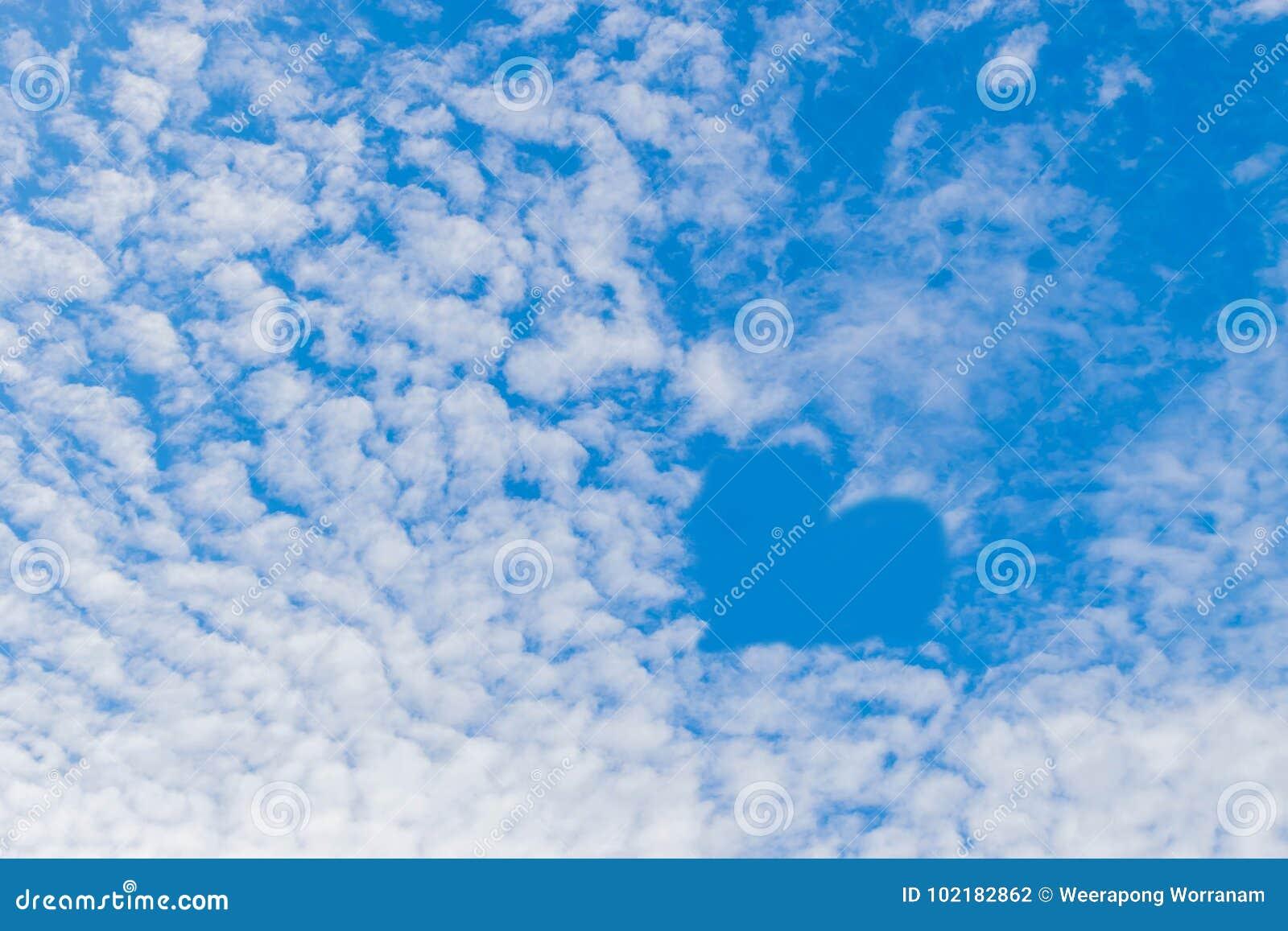 Мягкая текстура голубого неба, влюбленность поверхности фокуса неба, чудесная предпосылка облака неба